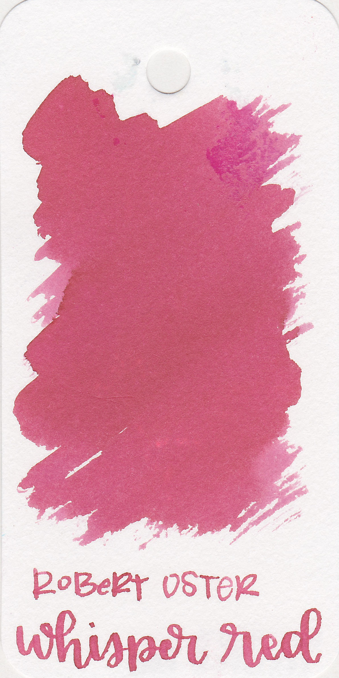 The color: - Whisper Red is a pastel, light red. It's almost a dusky pink but has a bit more red than that.