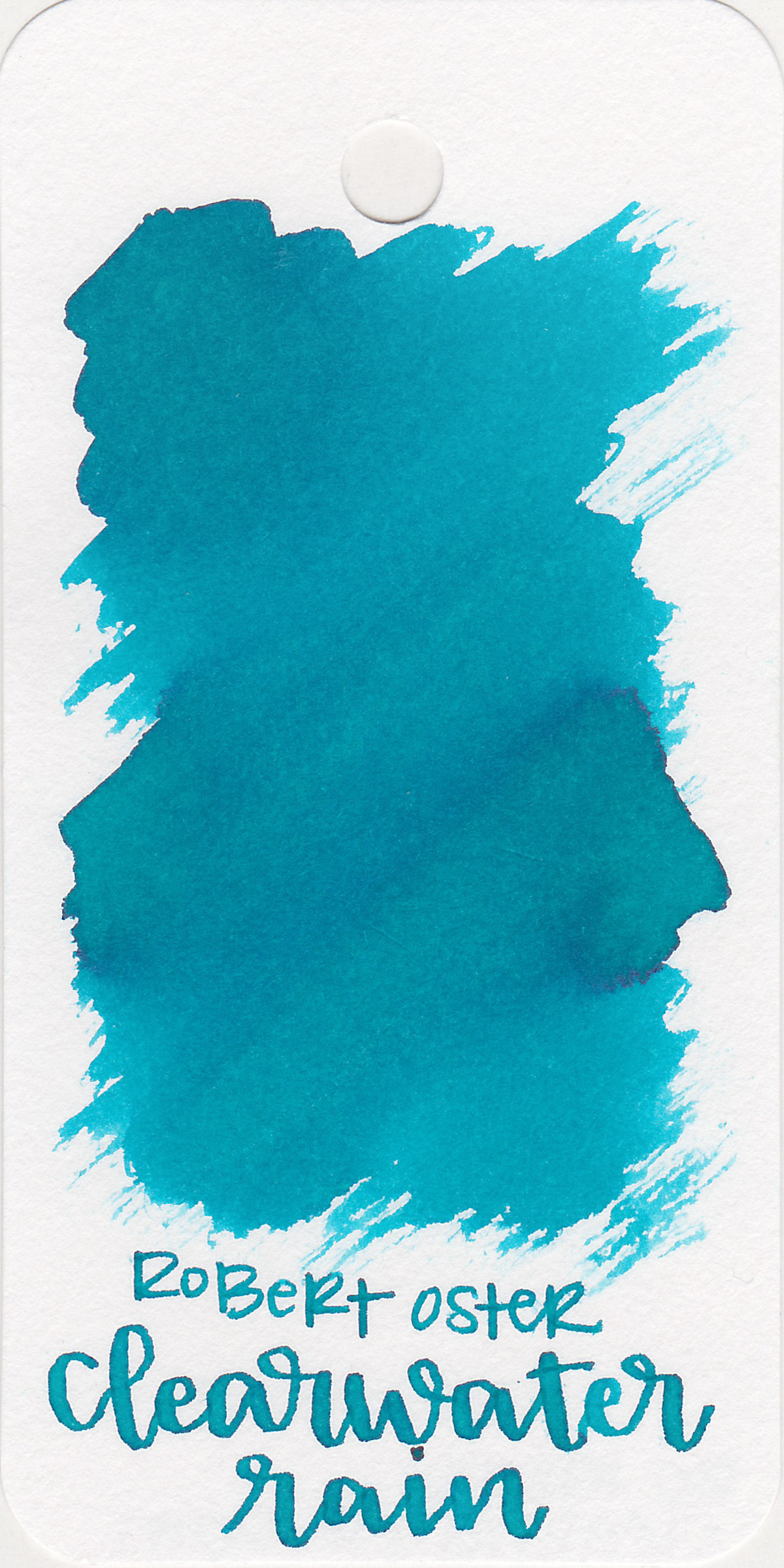 The color: - Clearwater Rain is a pretty medium blue-teal.