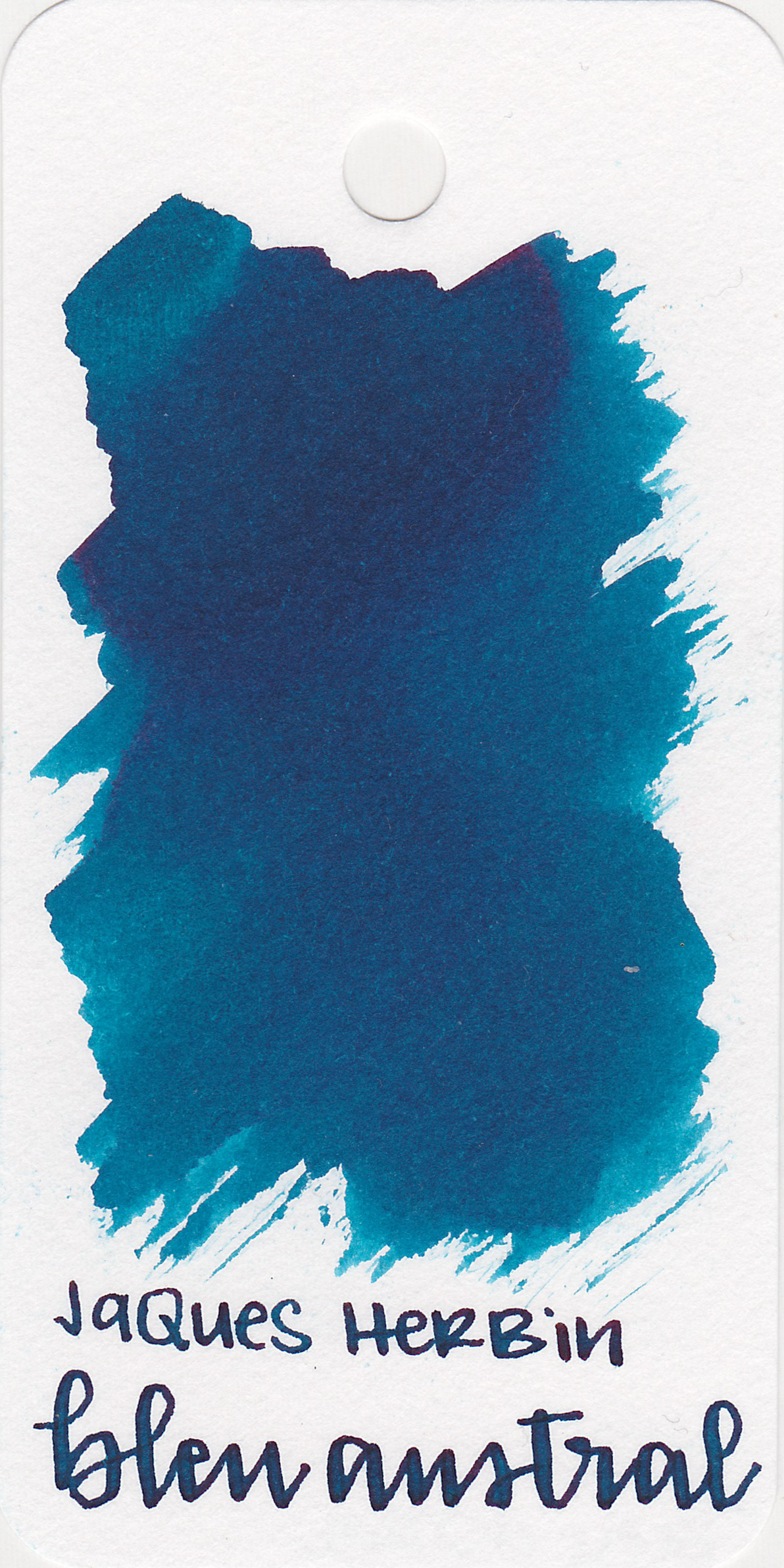 The color: - Bleu Austral is a dark blue with a hint of green.