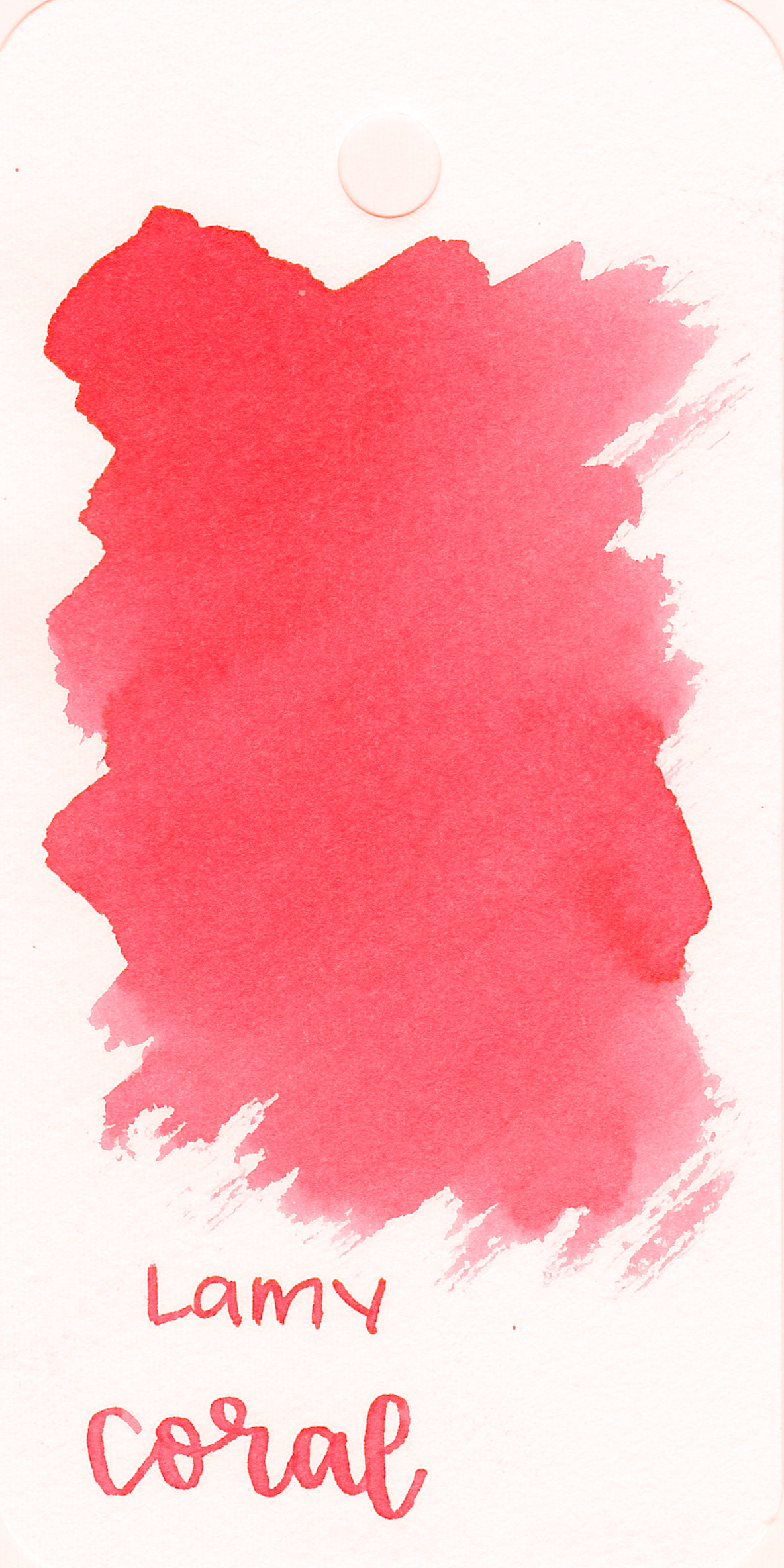The color: - Neon Coral is a bright, coral pink. Not quite orange, not quite pink.