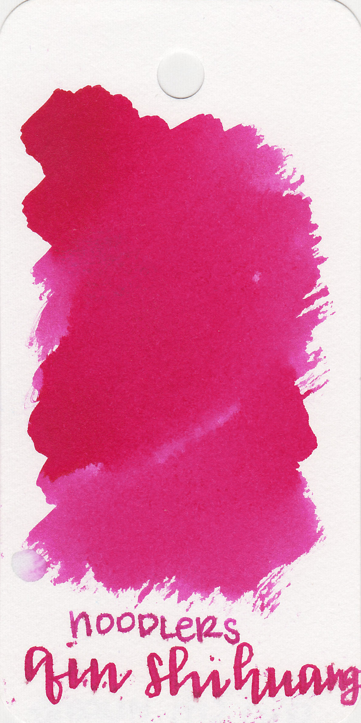 The color: - This ink is supposed to be a terra-cotta red, but I found it to be more of a bright pink.