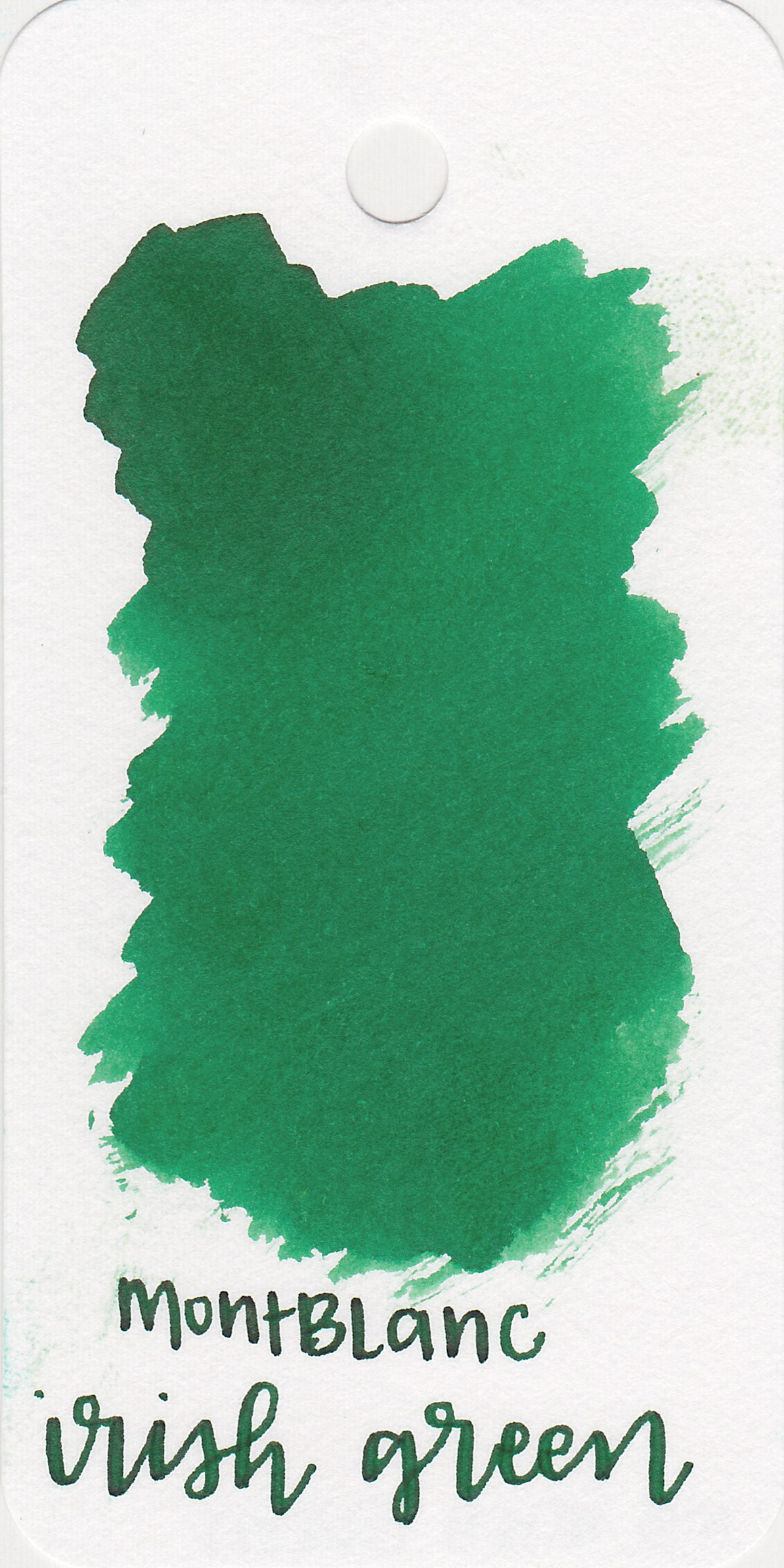 The color: - Irish Green is a beautiful medium green.