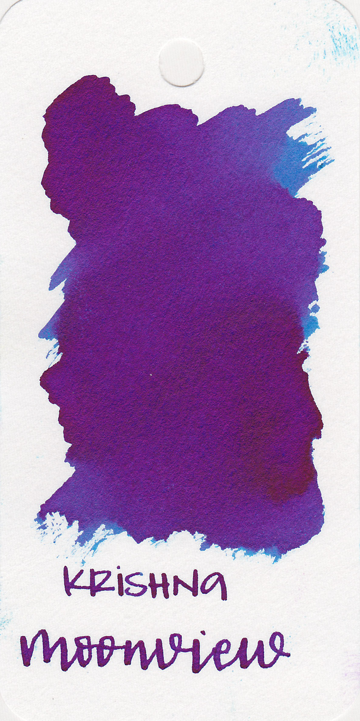 The color: - Moonview is a medium blue with a ton of sheen.