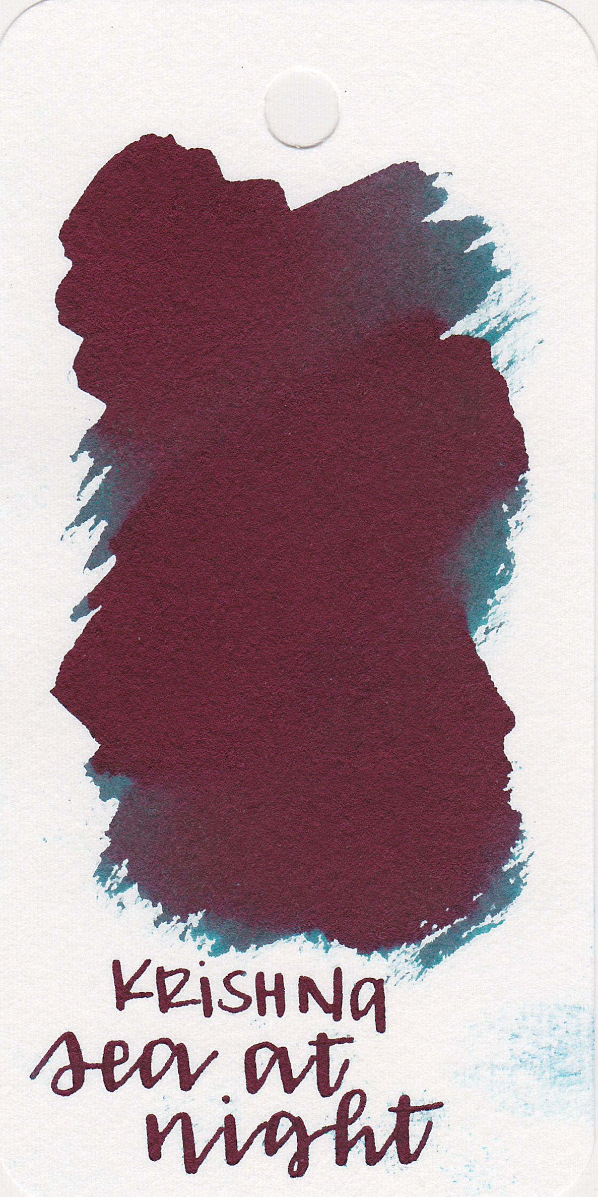 The color: - Sea at Night is a dark teal, hidden under a ton of red sheen.