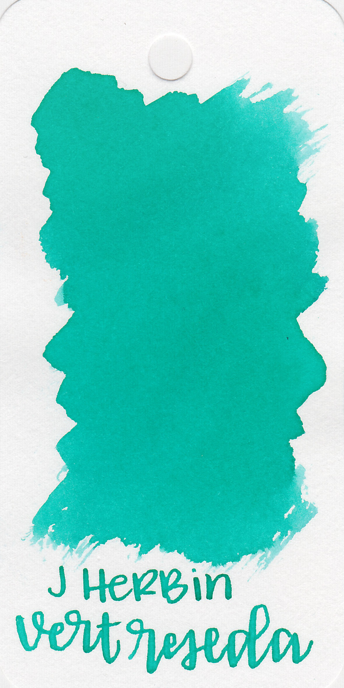 The color: - Vert Reseda is a pretty light teal.