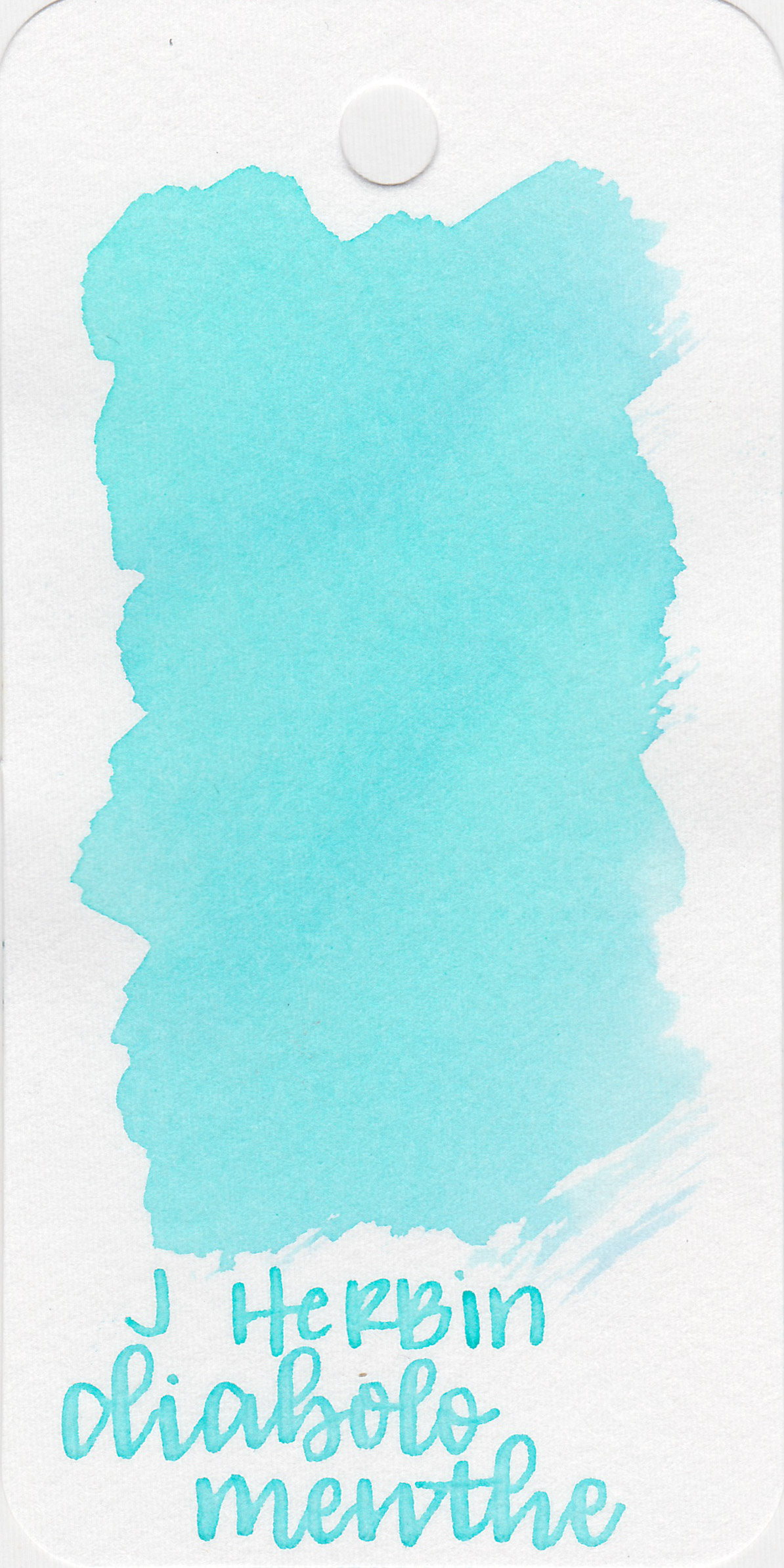 The color: - Diabolo Menthe is a very, very light blue.