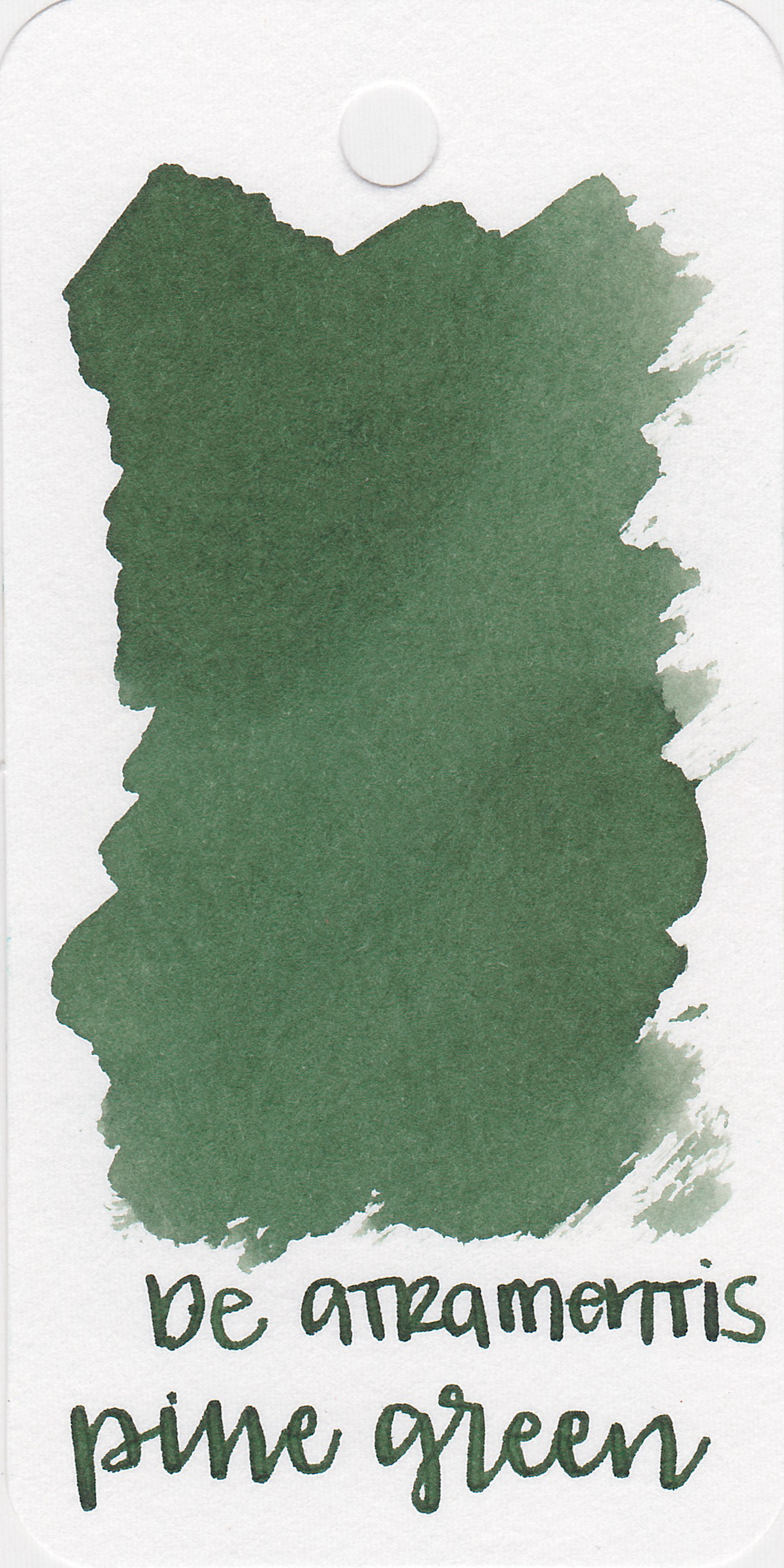 The color: - Pine Green is just that, a dark pine green.
