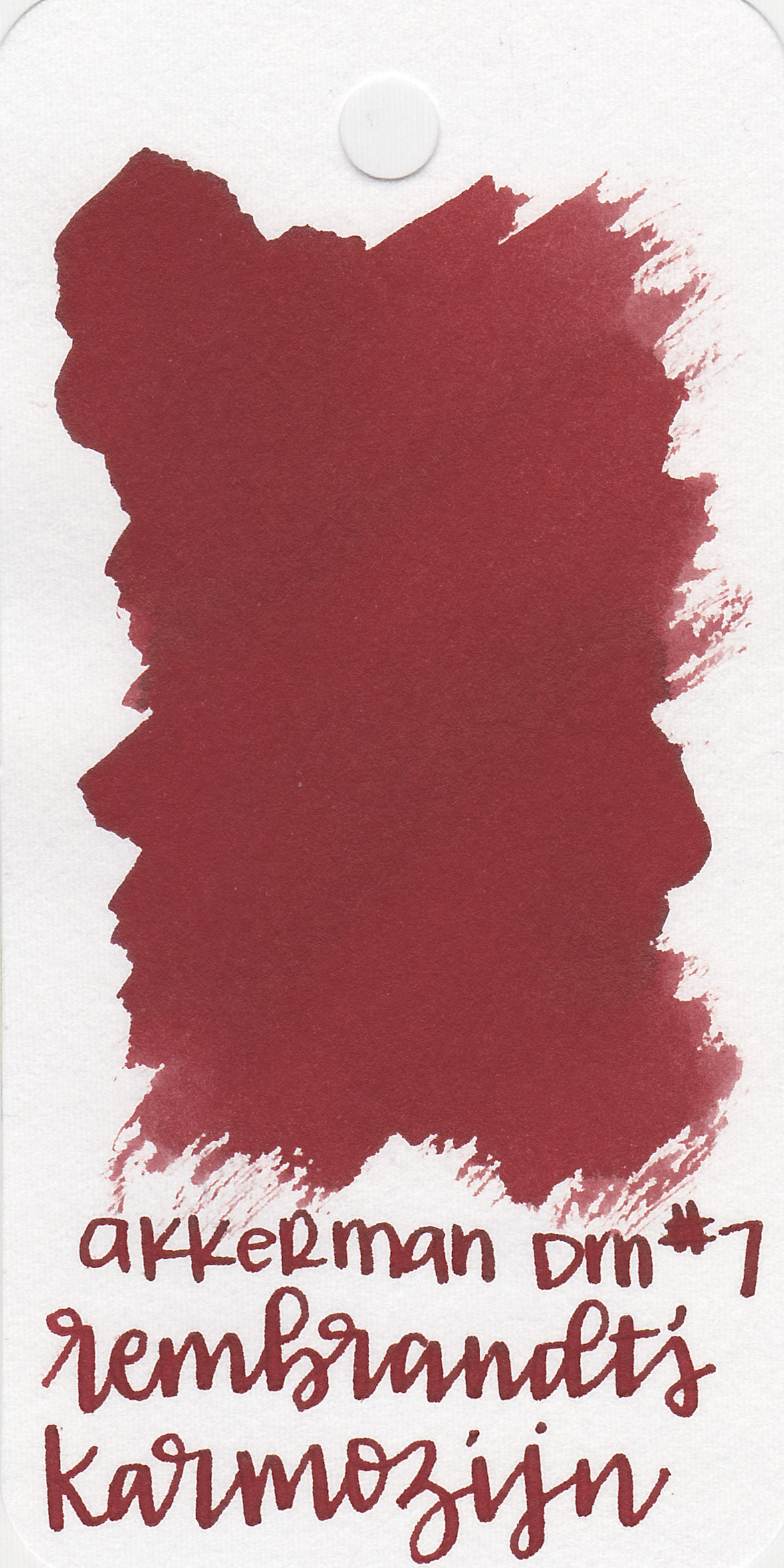 The color: - RK is a lovely dark red.