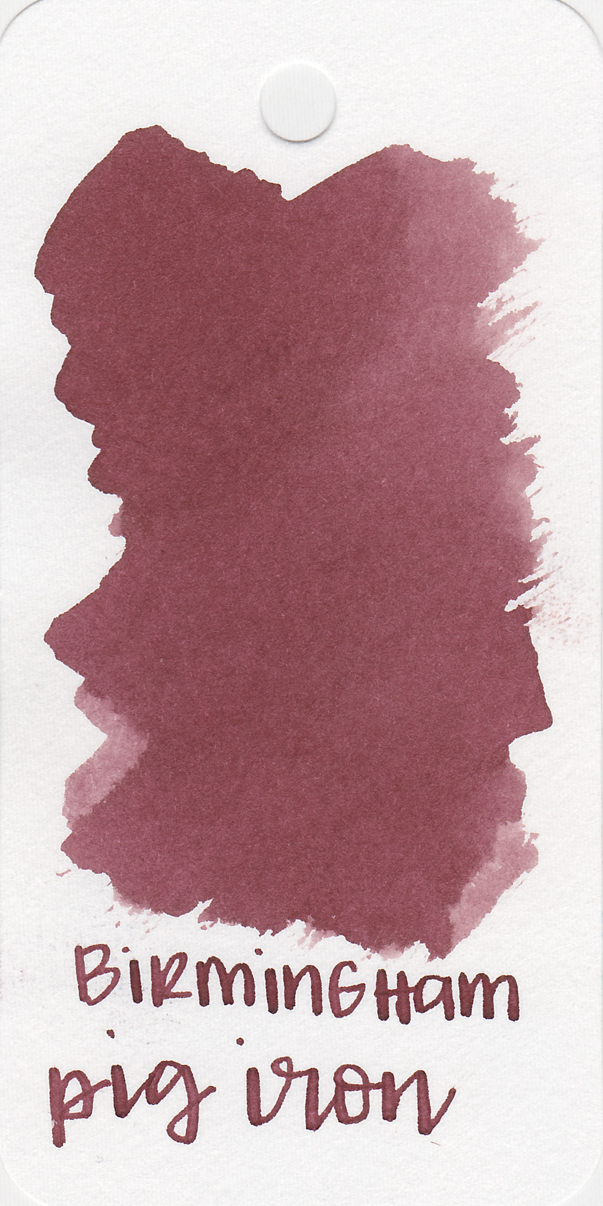The color: - Pig Iron is a dark, unsaturated red. It's almost a brown but not quite.