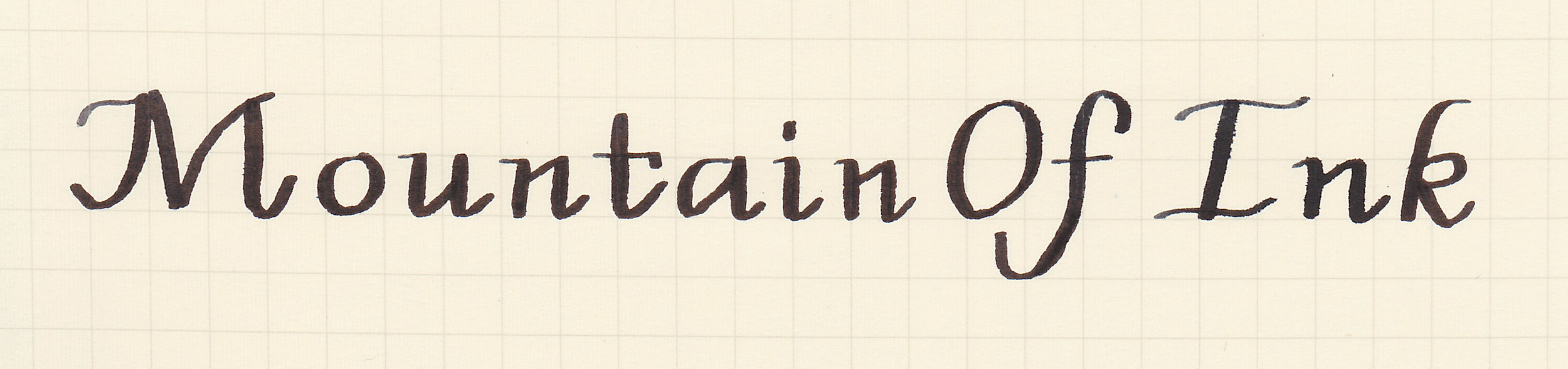 Italic Script, written with a 1.1 flex stub nib