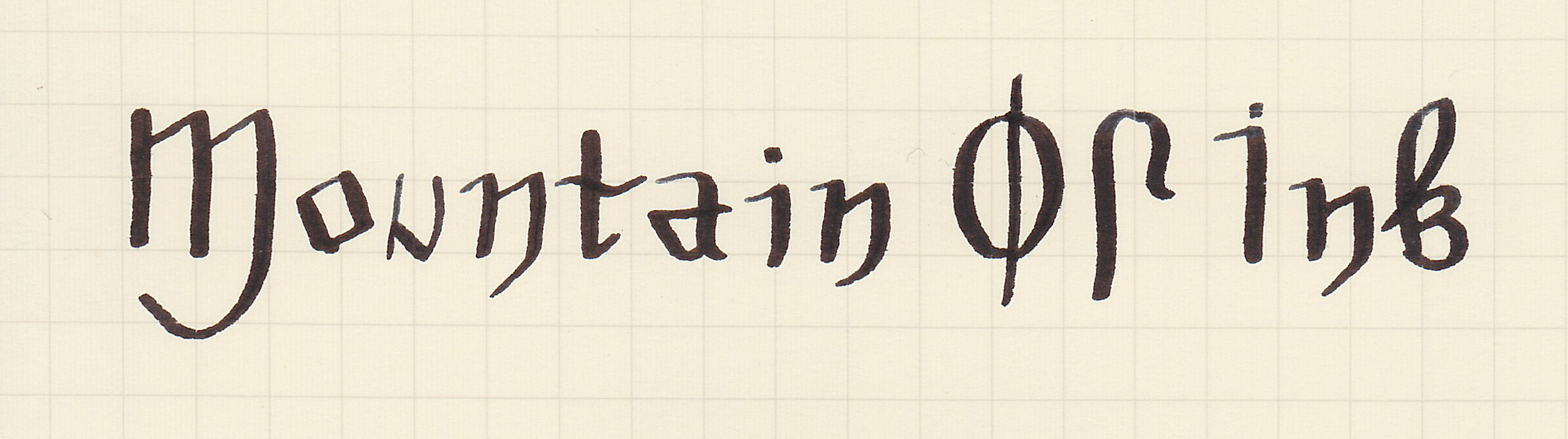Court Hand, written with a 1.1 flex stub nib