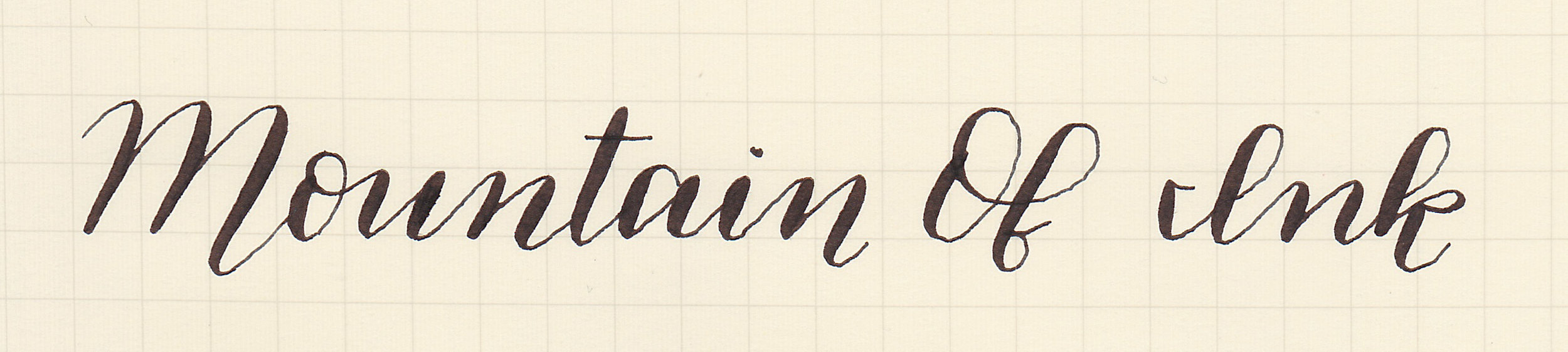 Italic Cursive Flex, written with a Flexible Nib Factory Zebra G nib unit.