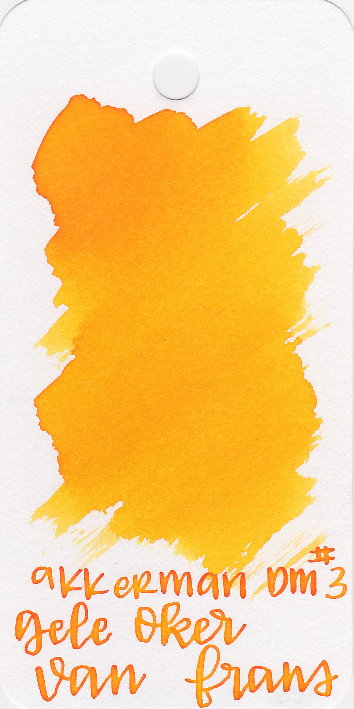 The color: - Gele Oker Van Frans is a bright, happy yellow, almost an orange.