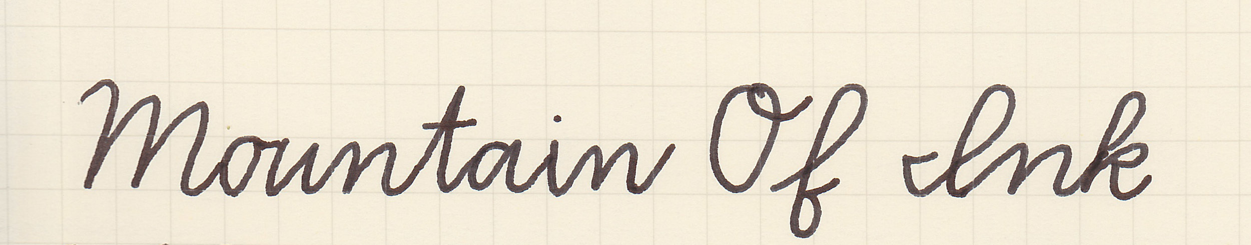 Zaner-Bloser cursive, written with a medium nib
