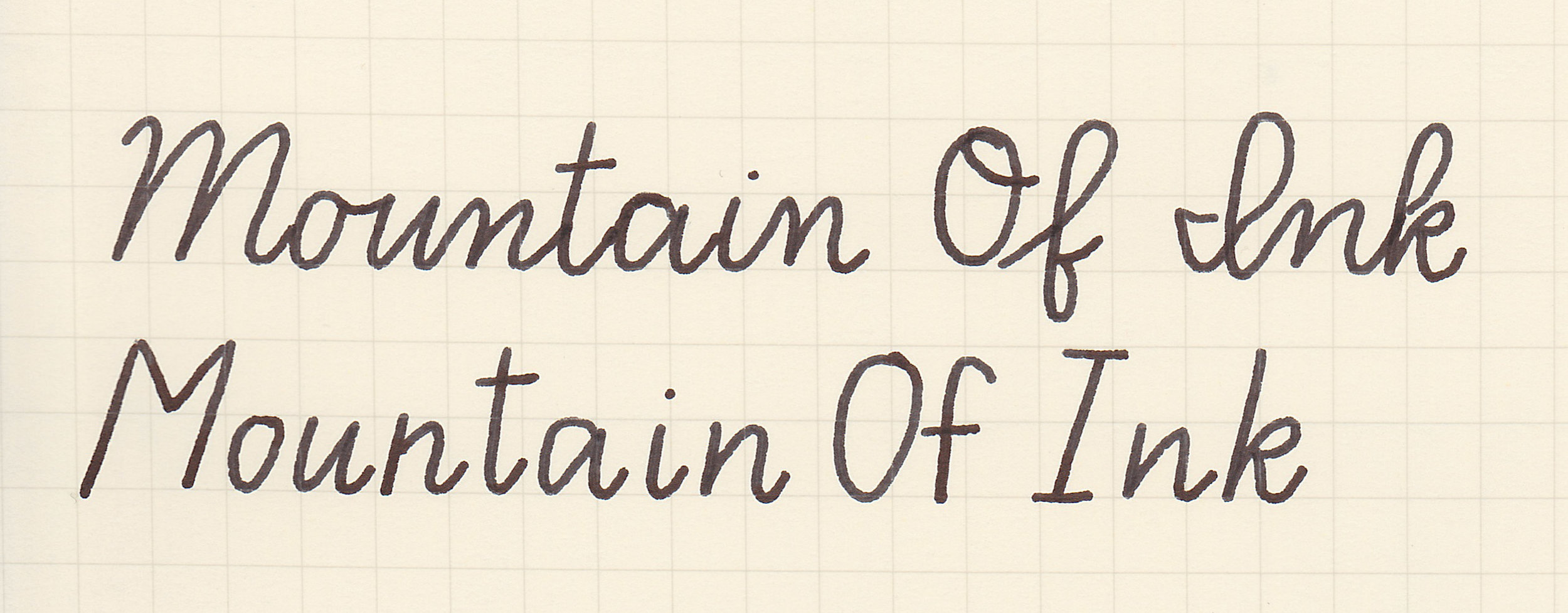 D'Nealian, written with a medium nib