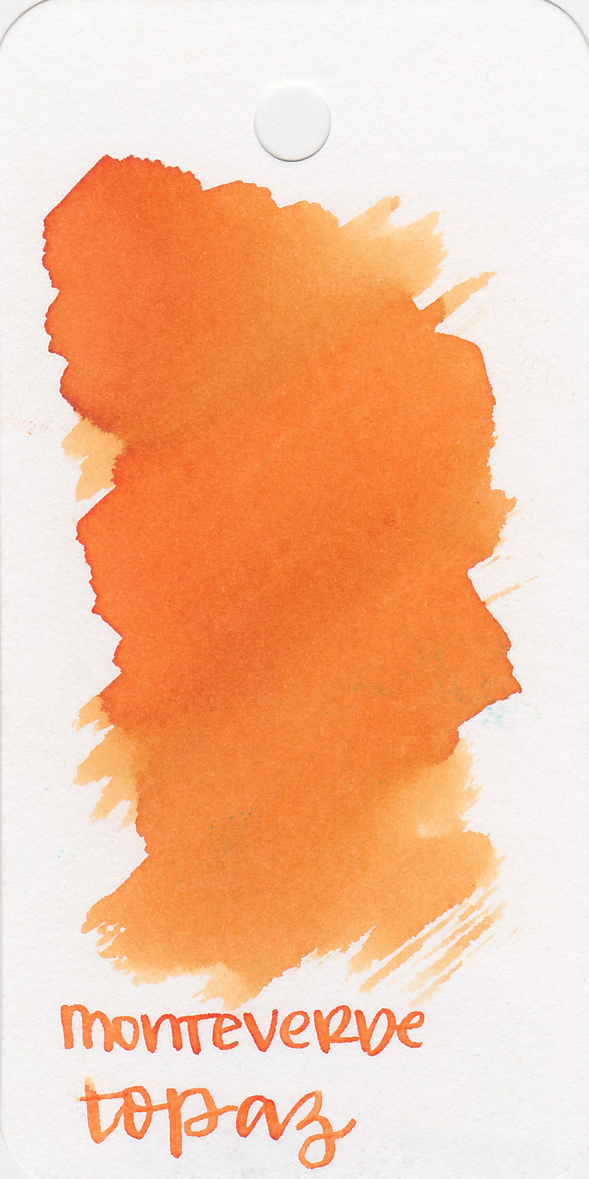 The color: - Topaz is a great spring orange. It's more of a true orange than yellow-orange.