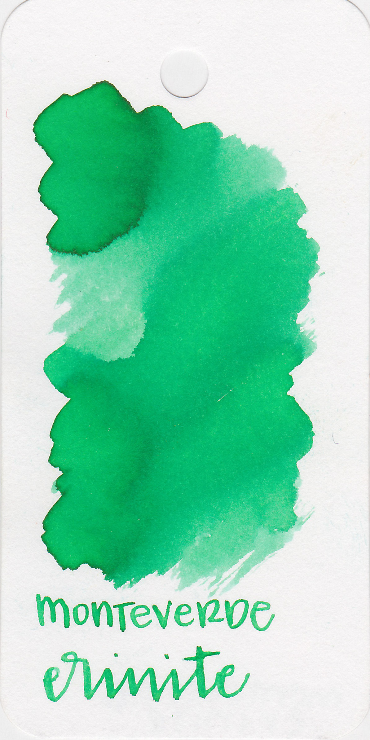 The color: - Erinite ranges from a very light mint green to a bright medium green.