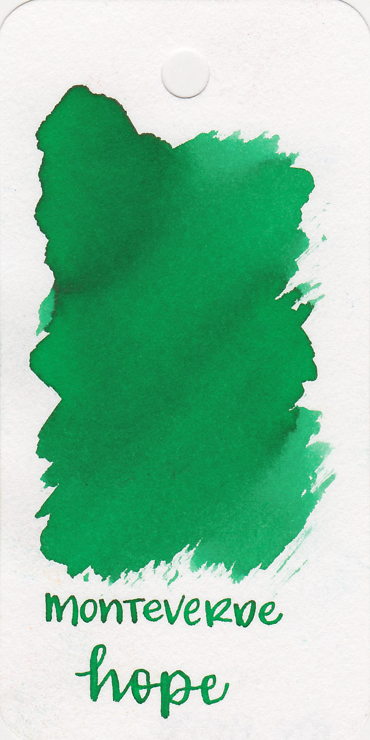 The color: - Hope Green is a medium green with a tiny hit of pink sheen.