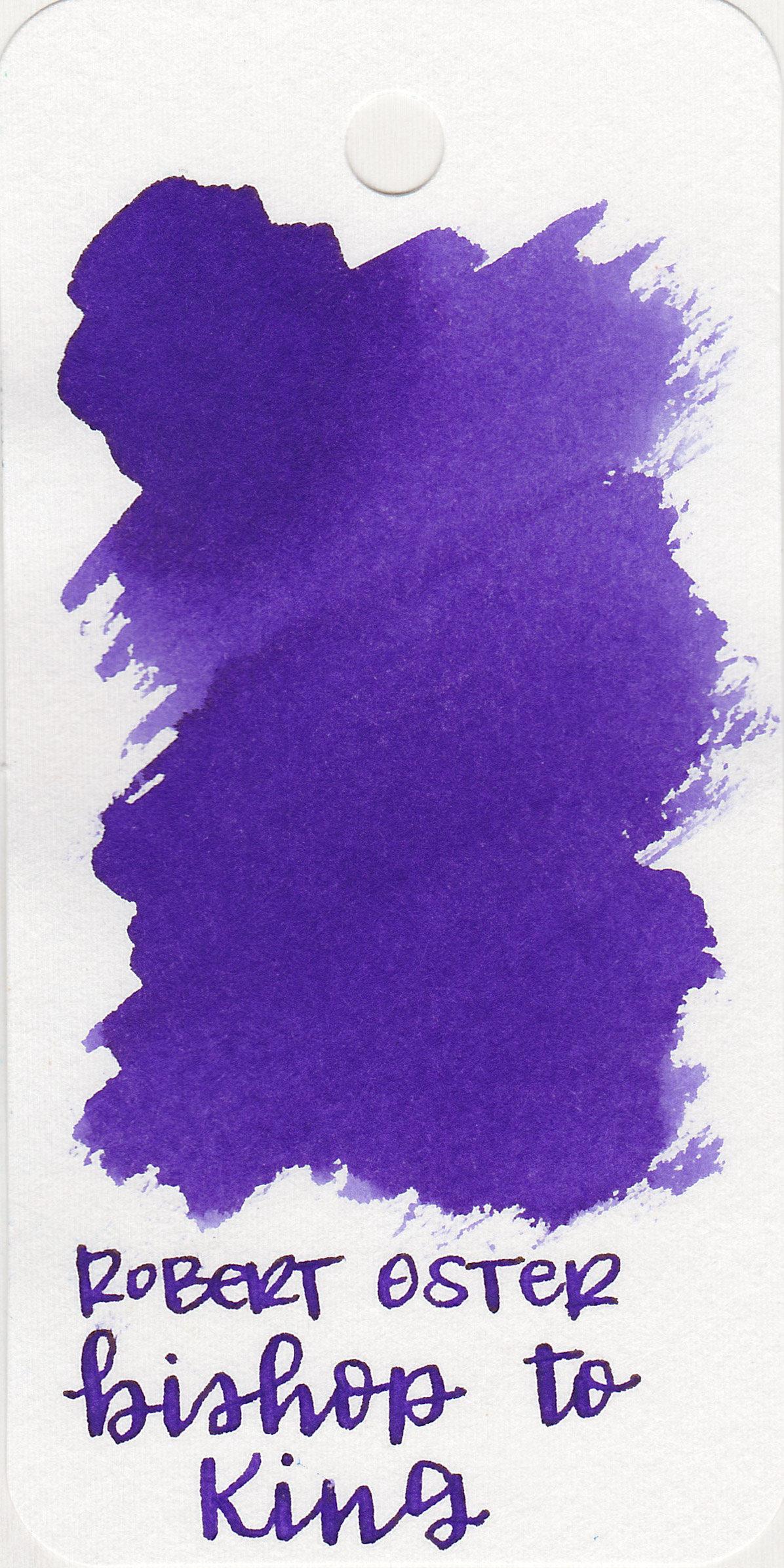 The color: - Bishop to King is a dark but vibrant purple.