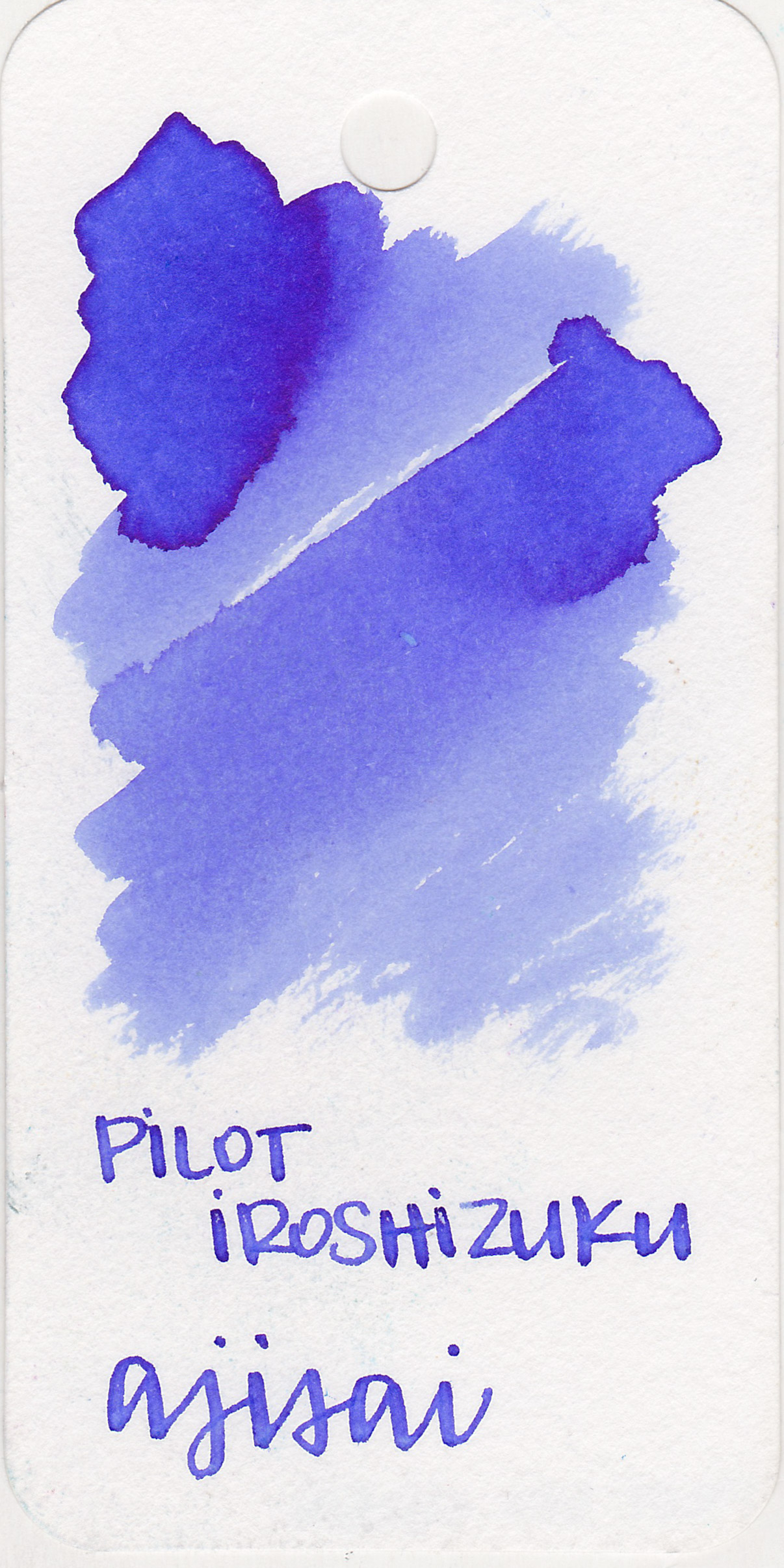 The color: - Ajisai is the perfect purple-blue as spring hydrangeas. It's a unique color, there aren't many inks this shade.