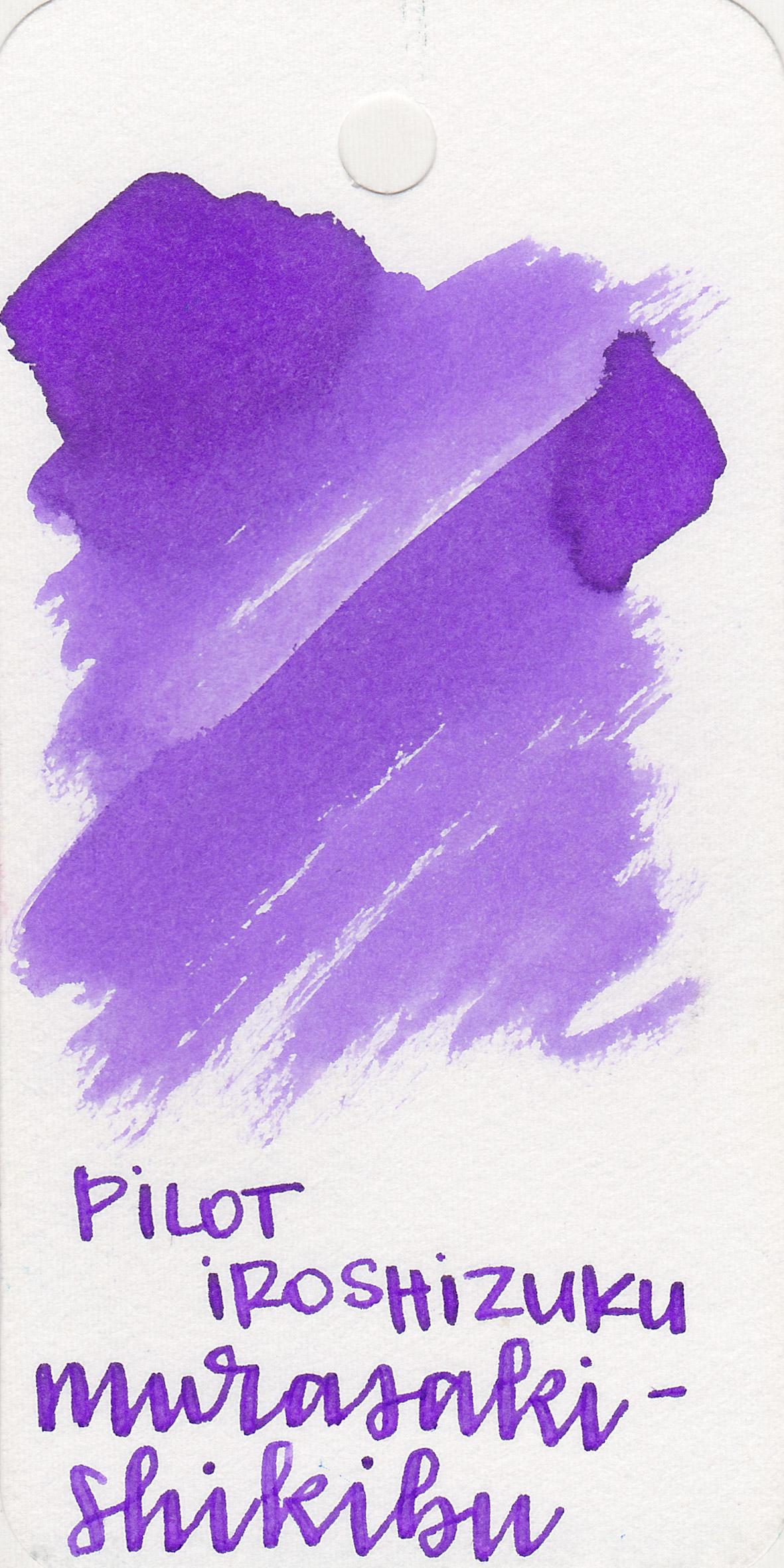 The color: - Murasakai-shikibu is a pretty medium purple.