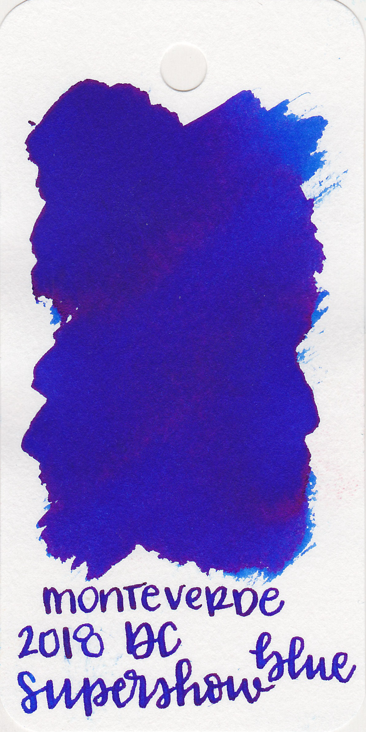 The color: - DC Supershow Blue is a medium, vibrant blue.