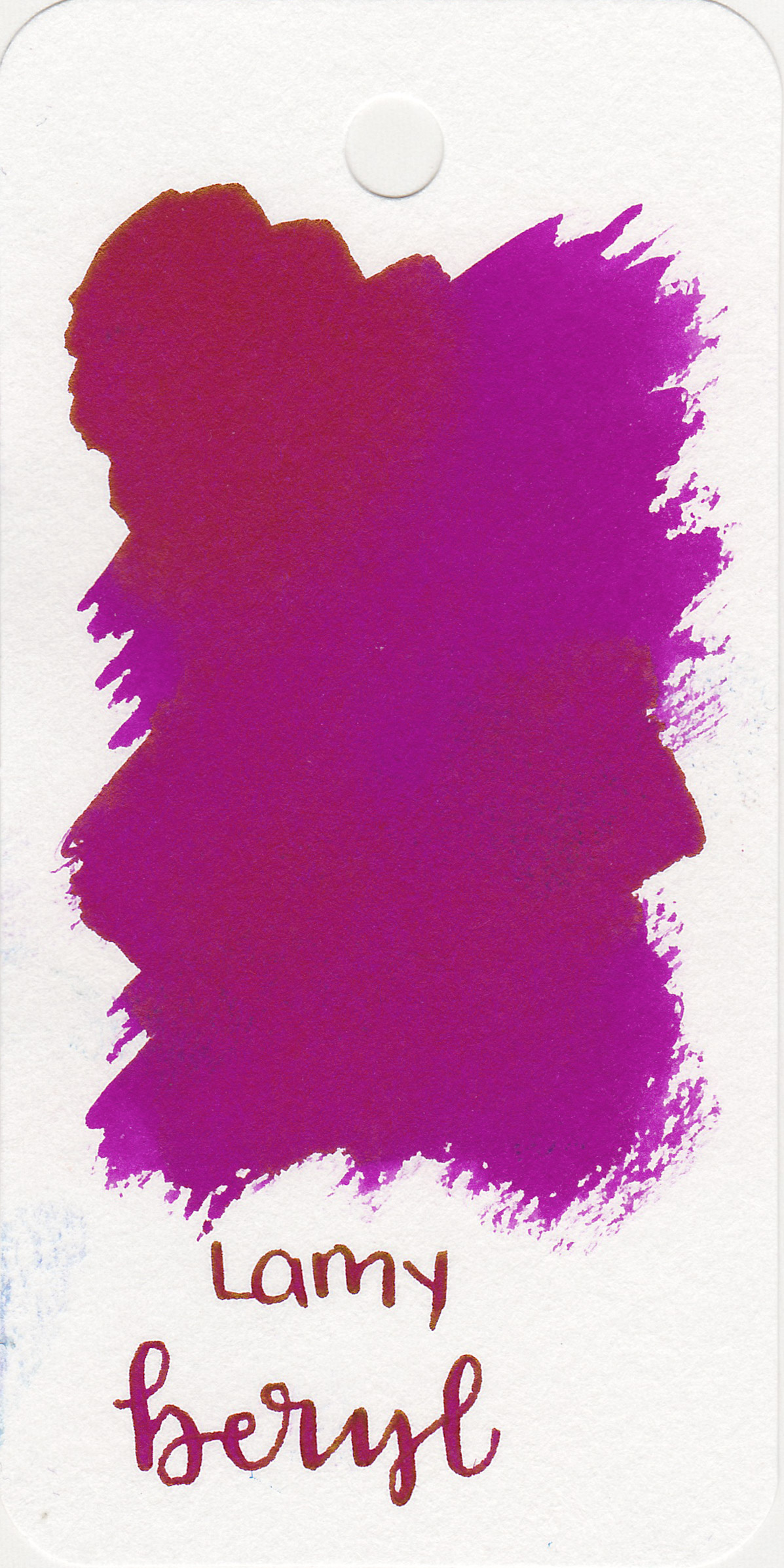 The color: - Beryl leans a bit more toward pink than purple, but definitely a bright magenta.