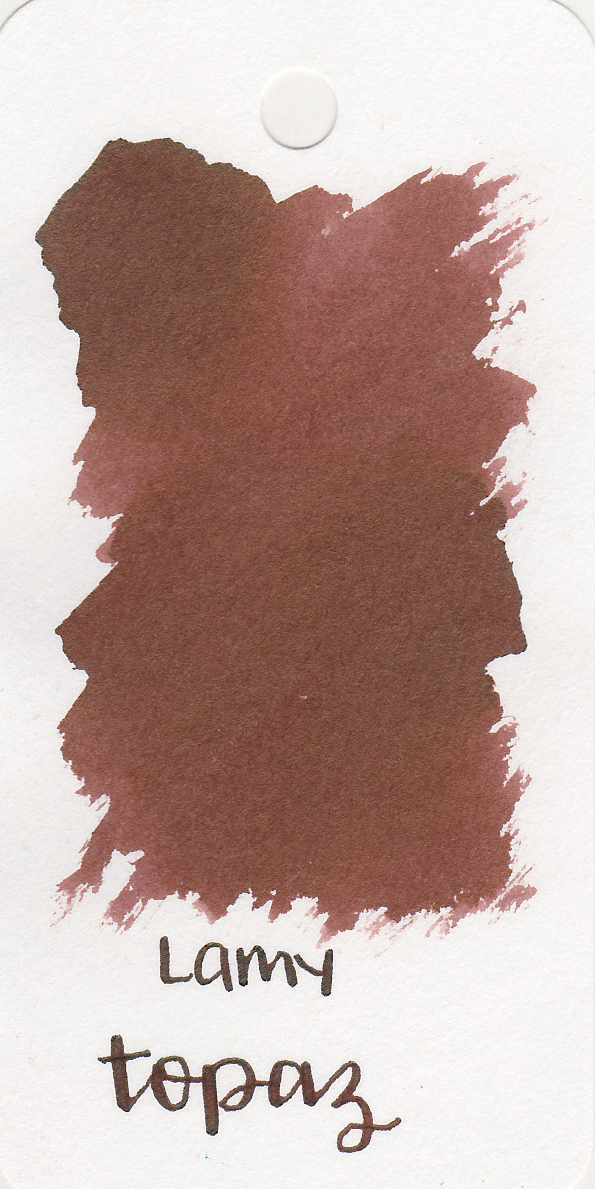 The color: - Topaz is a medium brown with a red undertone.