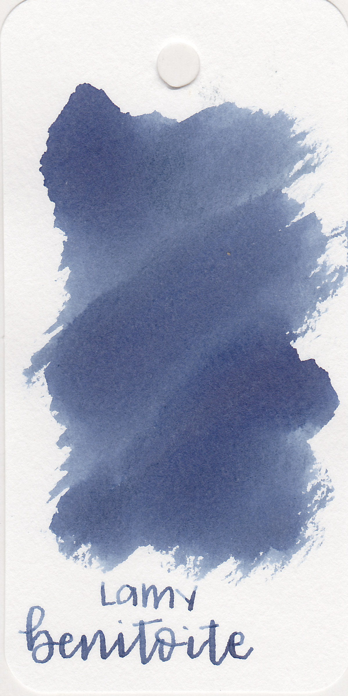 The color: - Benitoite is a medium blue-grey, it could be called an unsaturated blue-black.