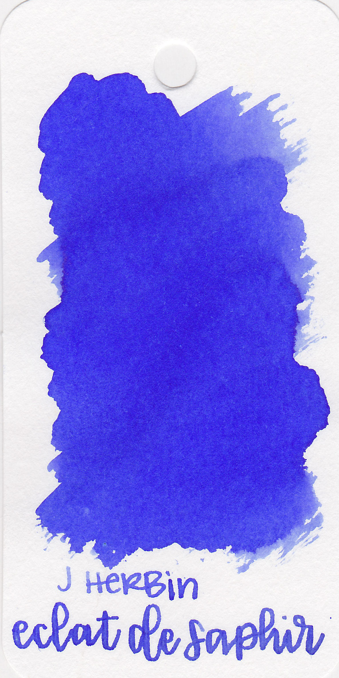 The color: - Eclat de Saphir is a vibrant blue-purple or blurple.
