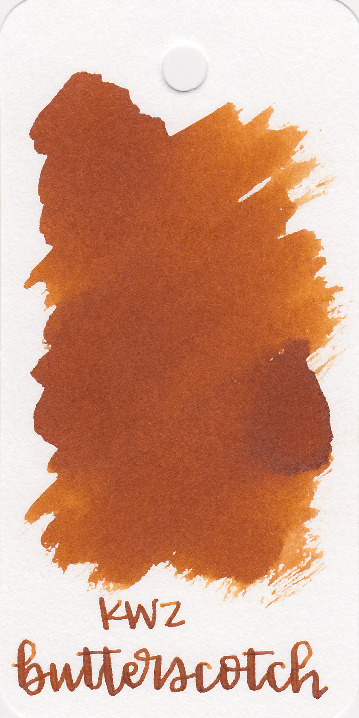The color: - Butterscotch is right in-between orange and brown with lots of depth.