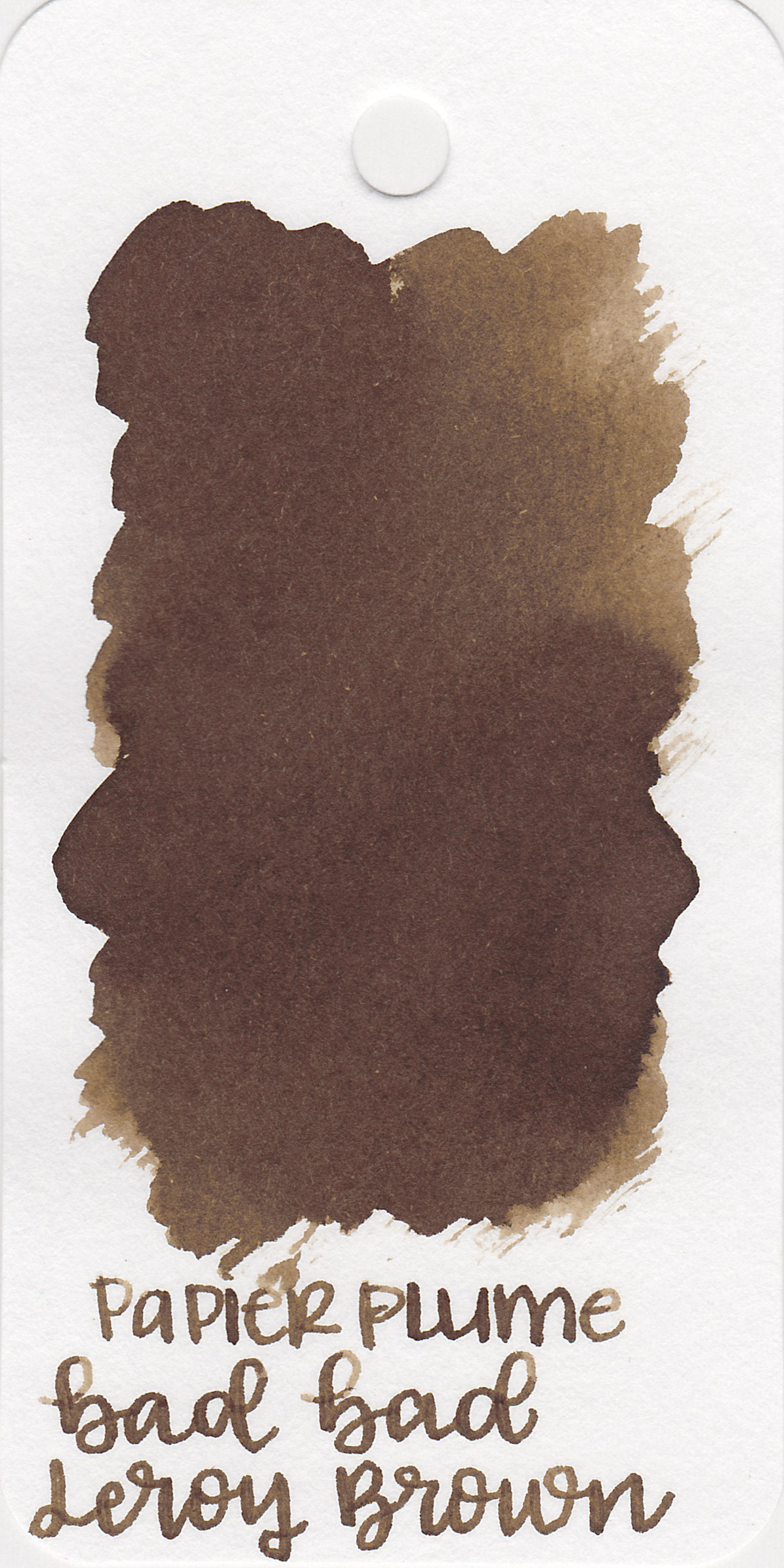 The color: - Leroy Brown is a medium, cool-tone brown. When wet it looks warmer, but cools in tone as it dries.