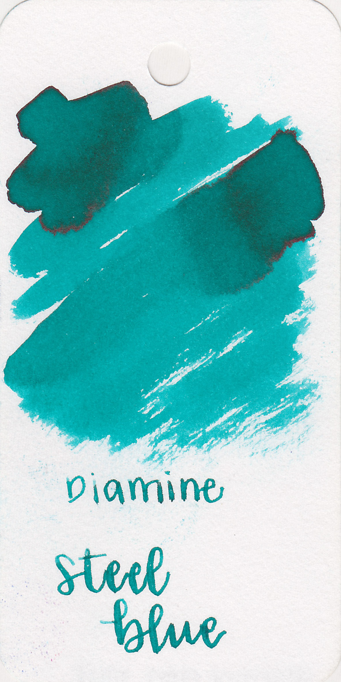 The color: - Steel Blue is a bright, medium teal.