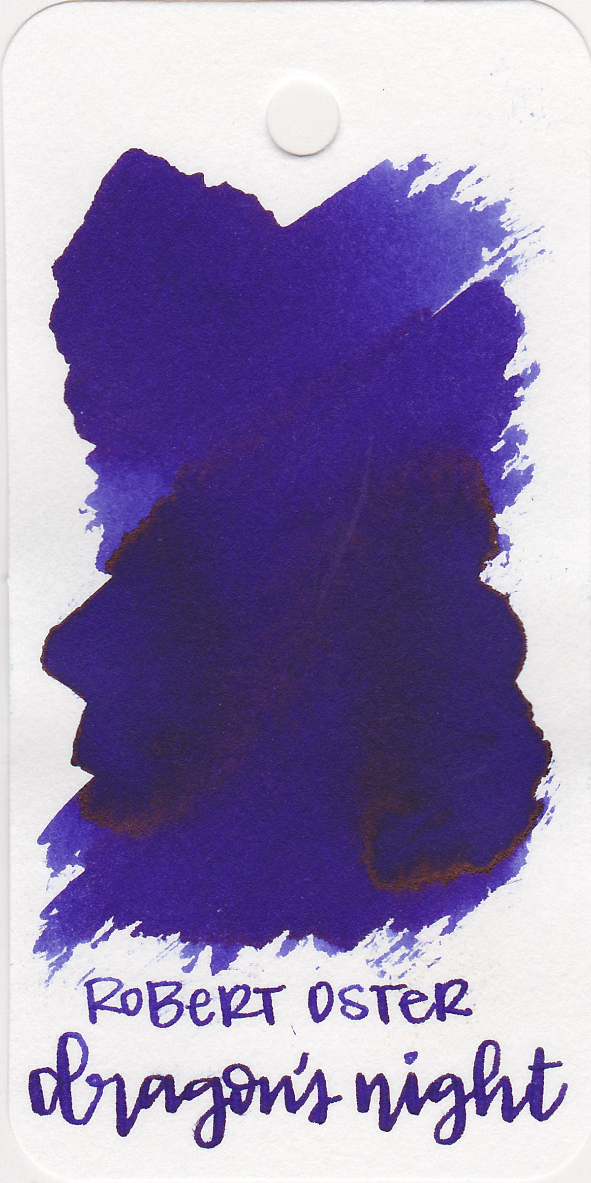 The color: - Dragon's Night is in-between blue and purple but leans a little bit more purple.