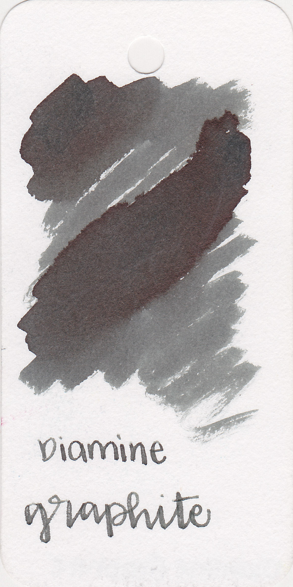The color: - Graphite is a medium grey that can appear much darker in a wet nib. It has a slight green undertone to it.