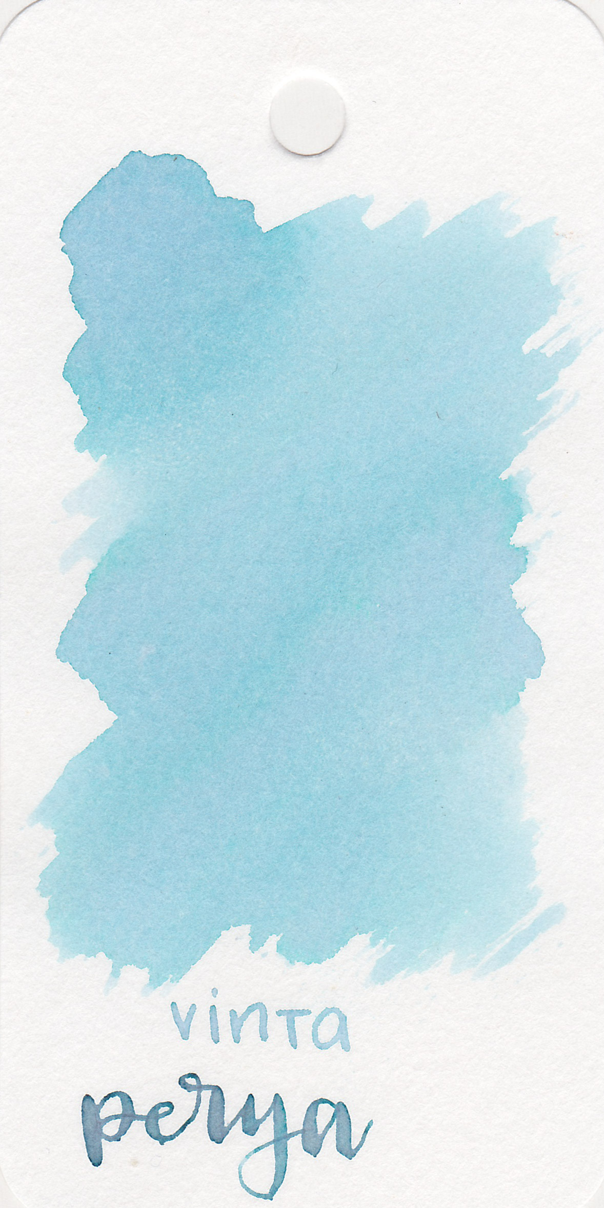 The color: - Perya is a light, almost baby blue. Depending on the paper, this ink shifts from blue to pink and green.