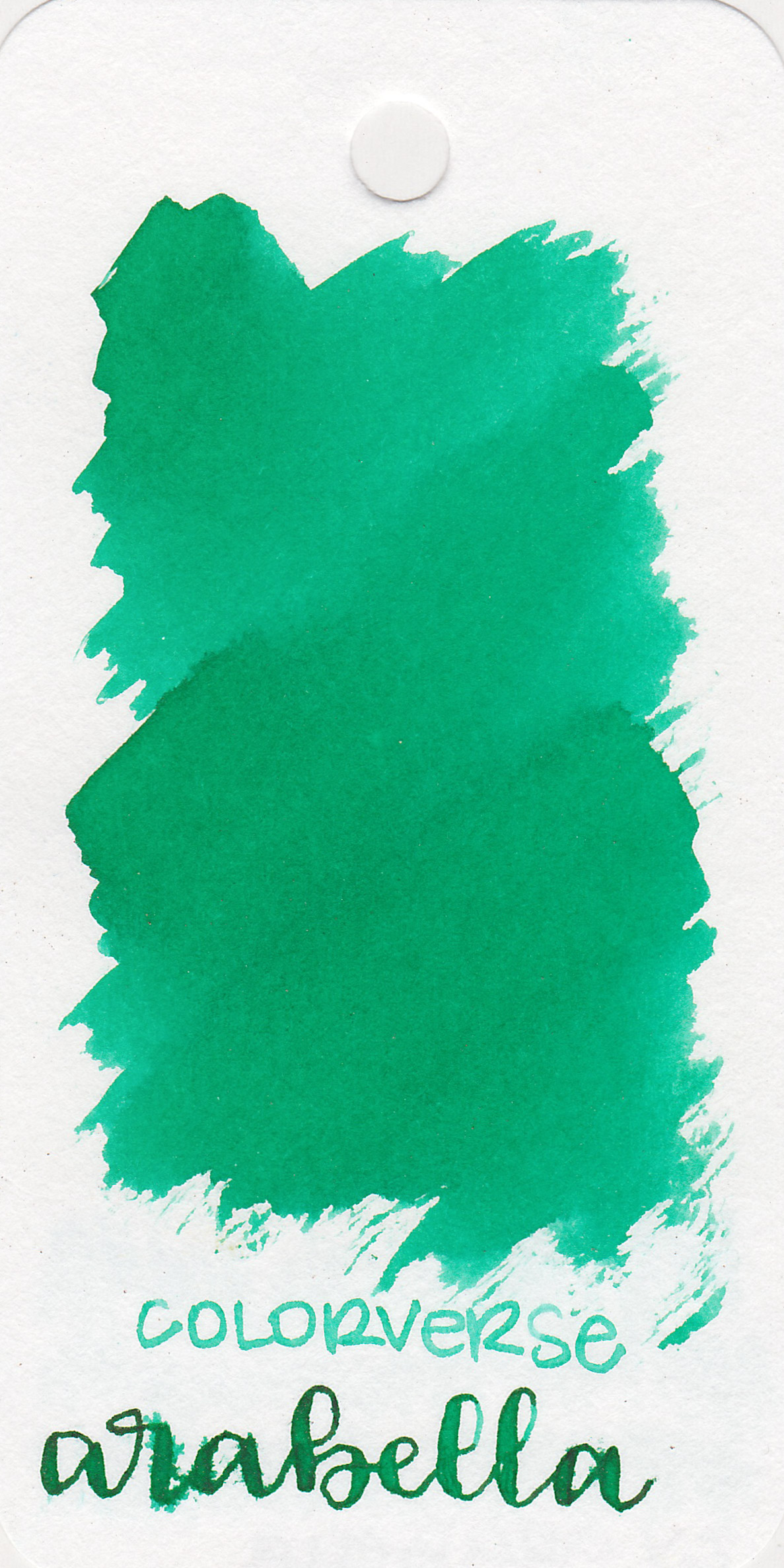 The color: - Arabella is a medium vivid green.