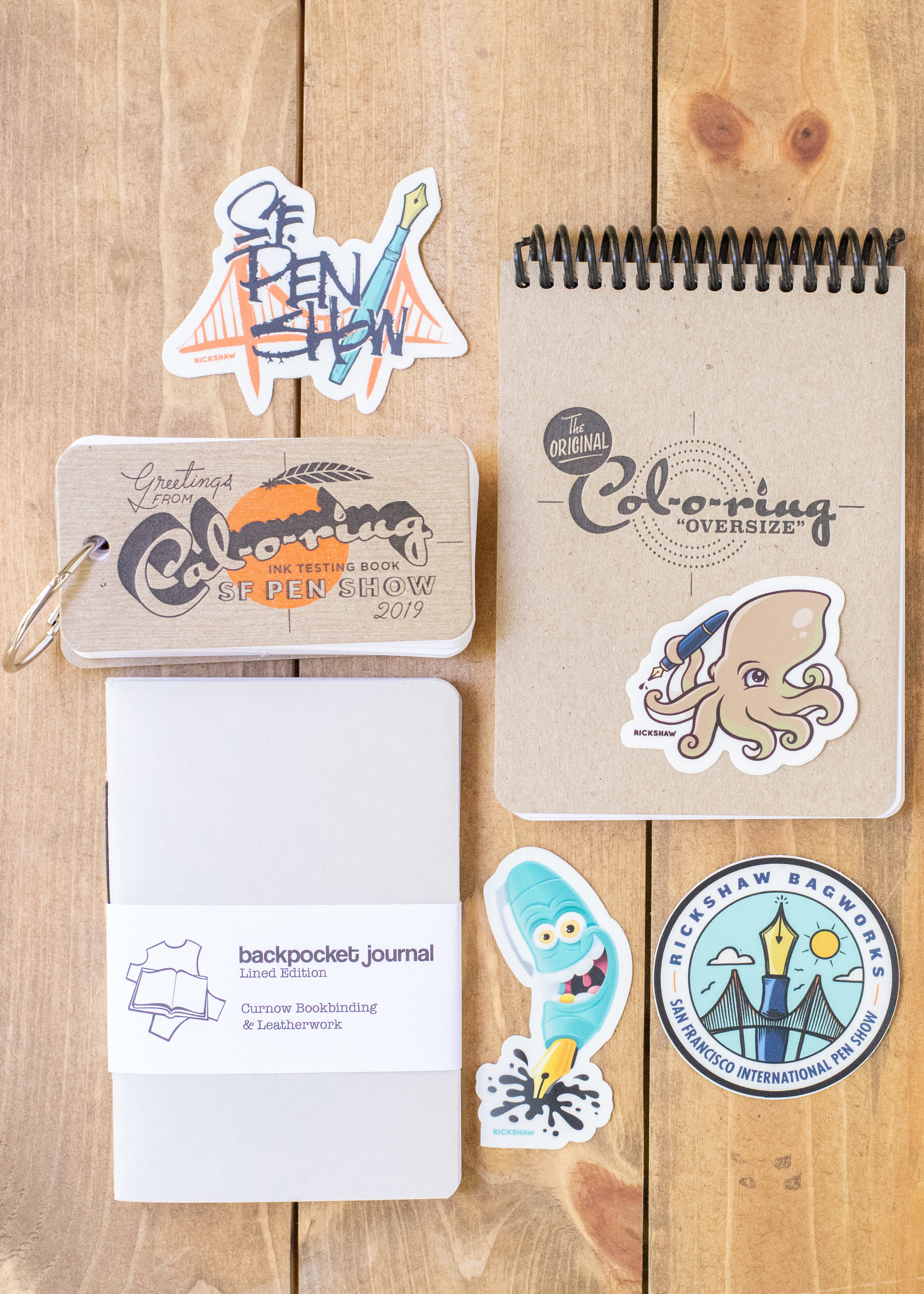Small things: - Fun stickers from RickshawBackpocket Journals from CurnowCal-o-ring and Col-o-ring oversize from the Well-Appointed Desk