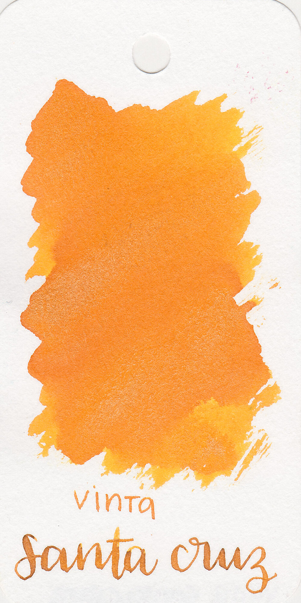 The color: - Santa Cruz is a bright medium orange with gold shimmer.
