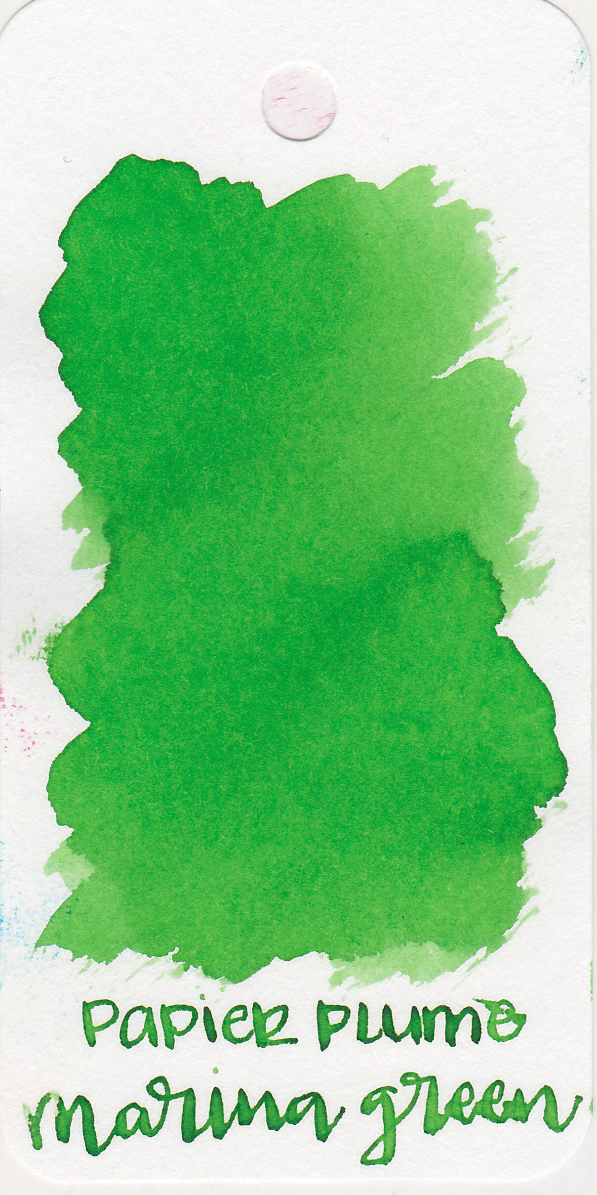 The color: - Marina Green is a bright medium green with some shading. I would almost call it a lime green on this Col-o-ring paper.