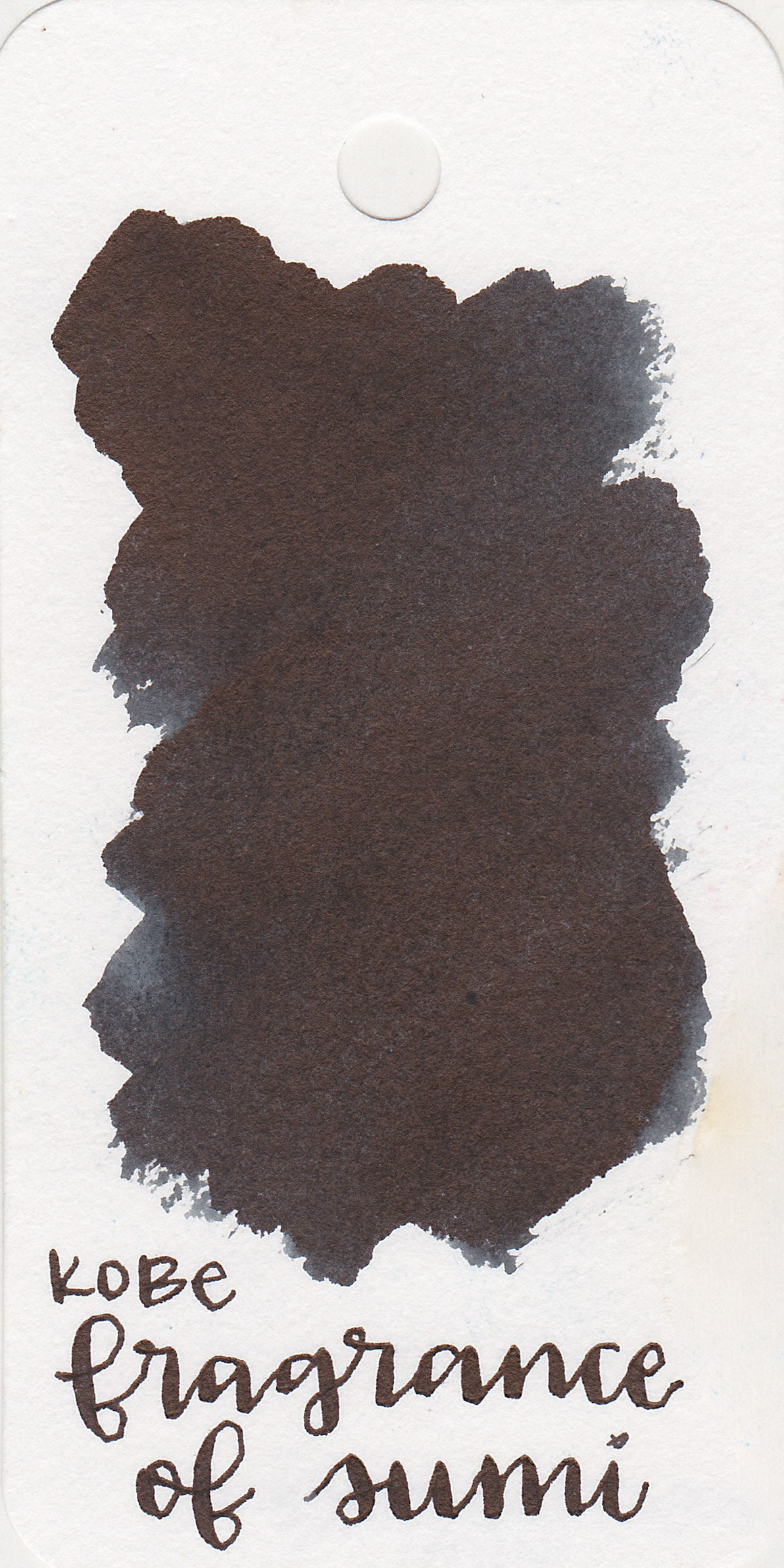 The color: - Fragrance of Sumi is a dark, saturated black.