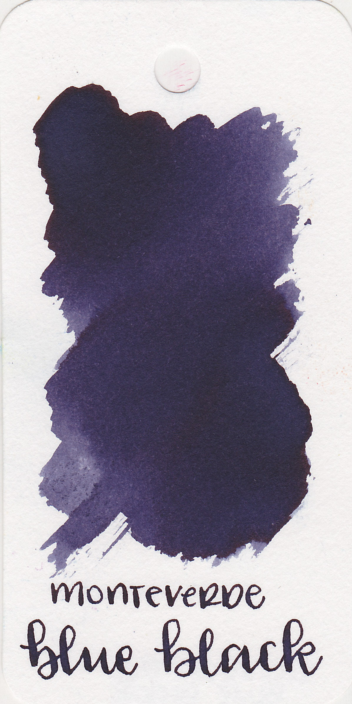 The color: - Blue Black is a dark blue black that leans toward purple.