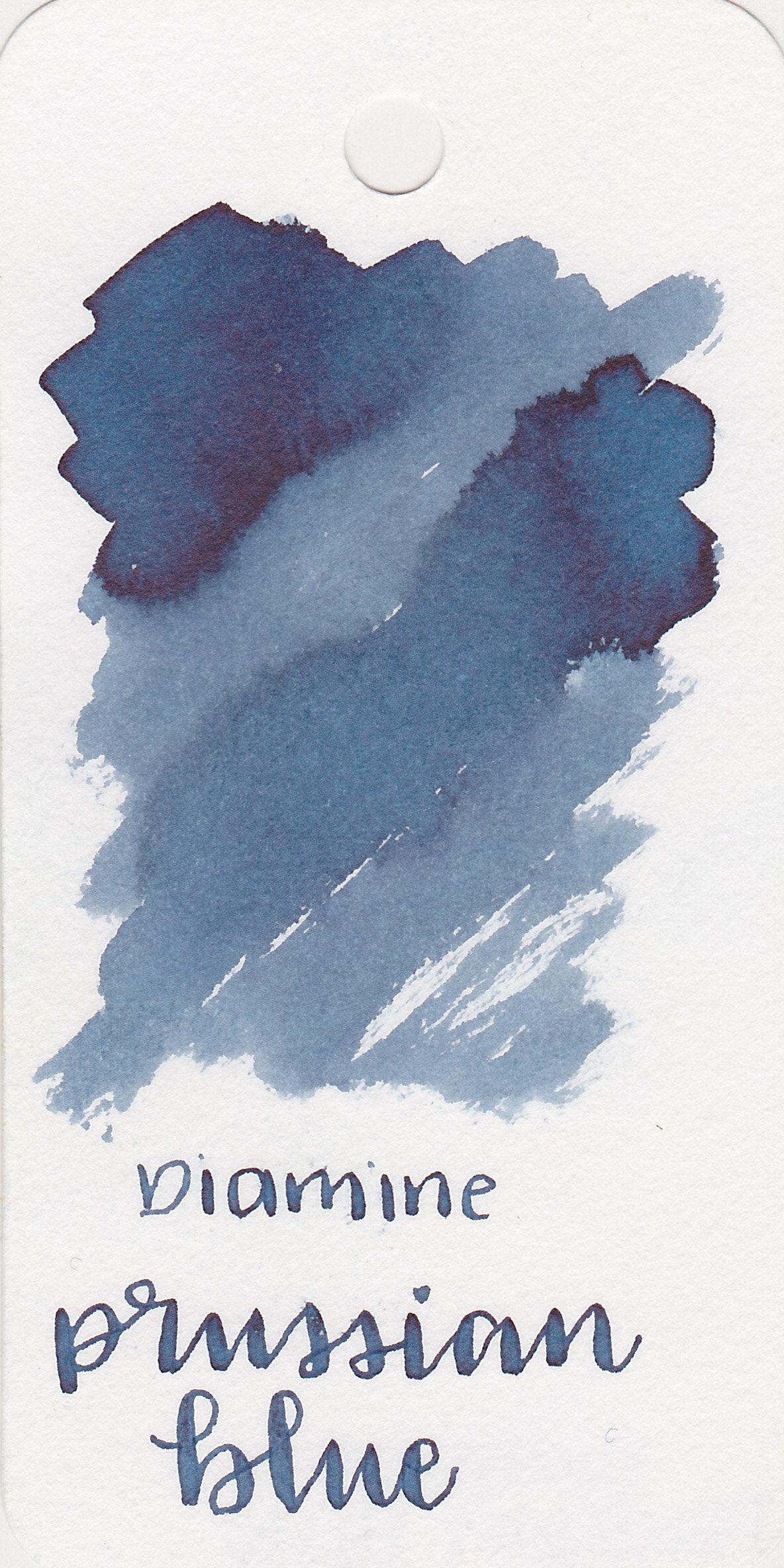 The color: - Prussian Blue is an unsaturated, medium blue black.