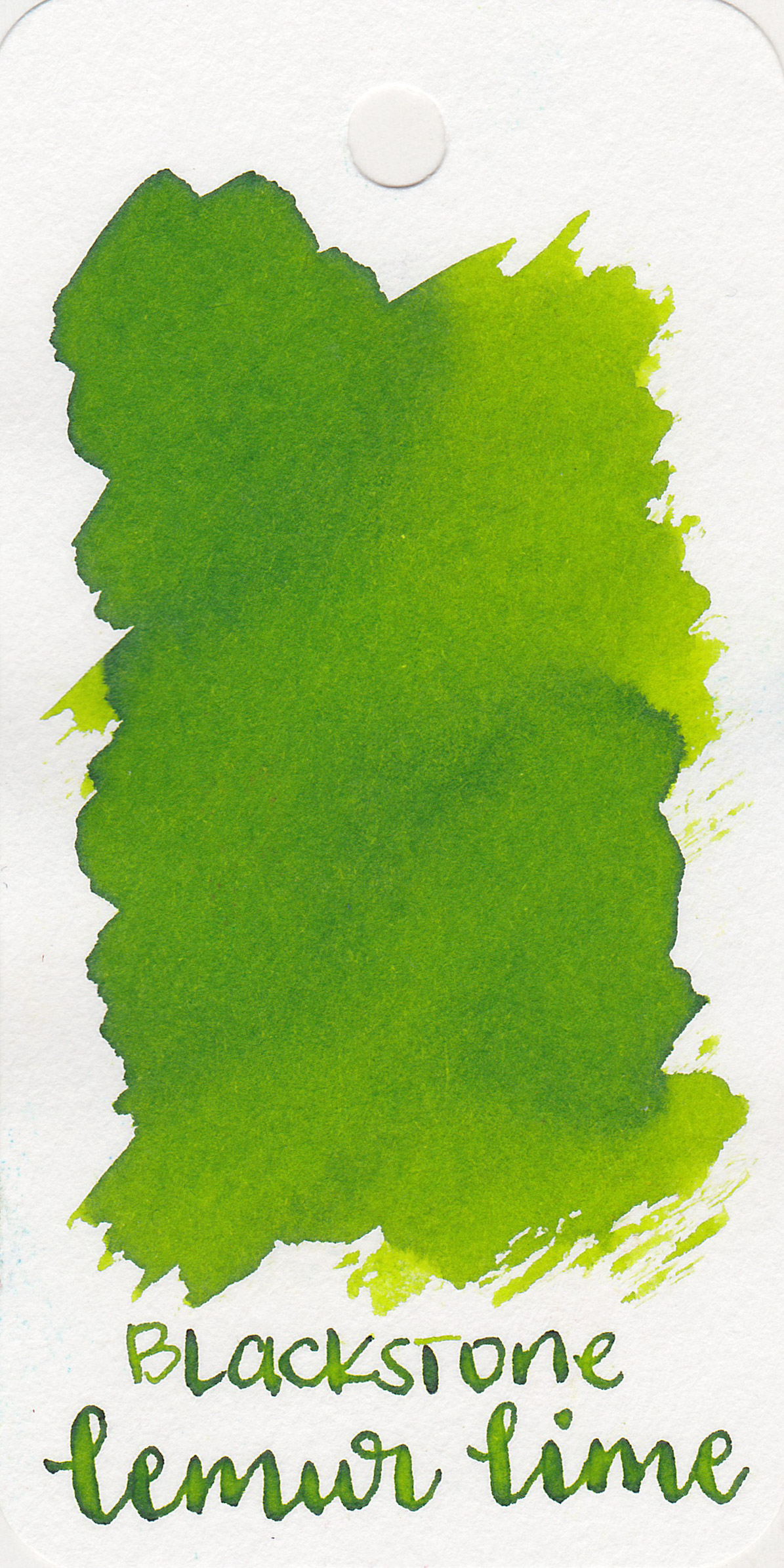 The color: - Lemur Lime is a bright green-yellow lime color.