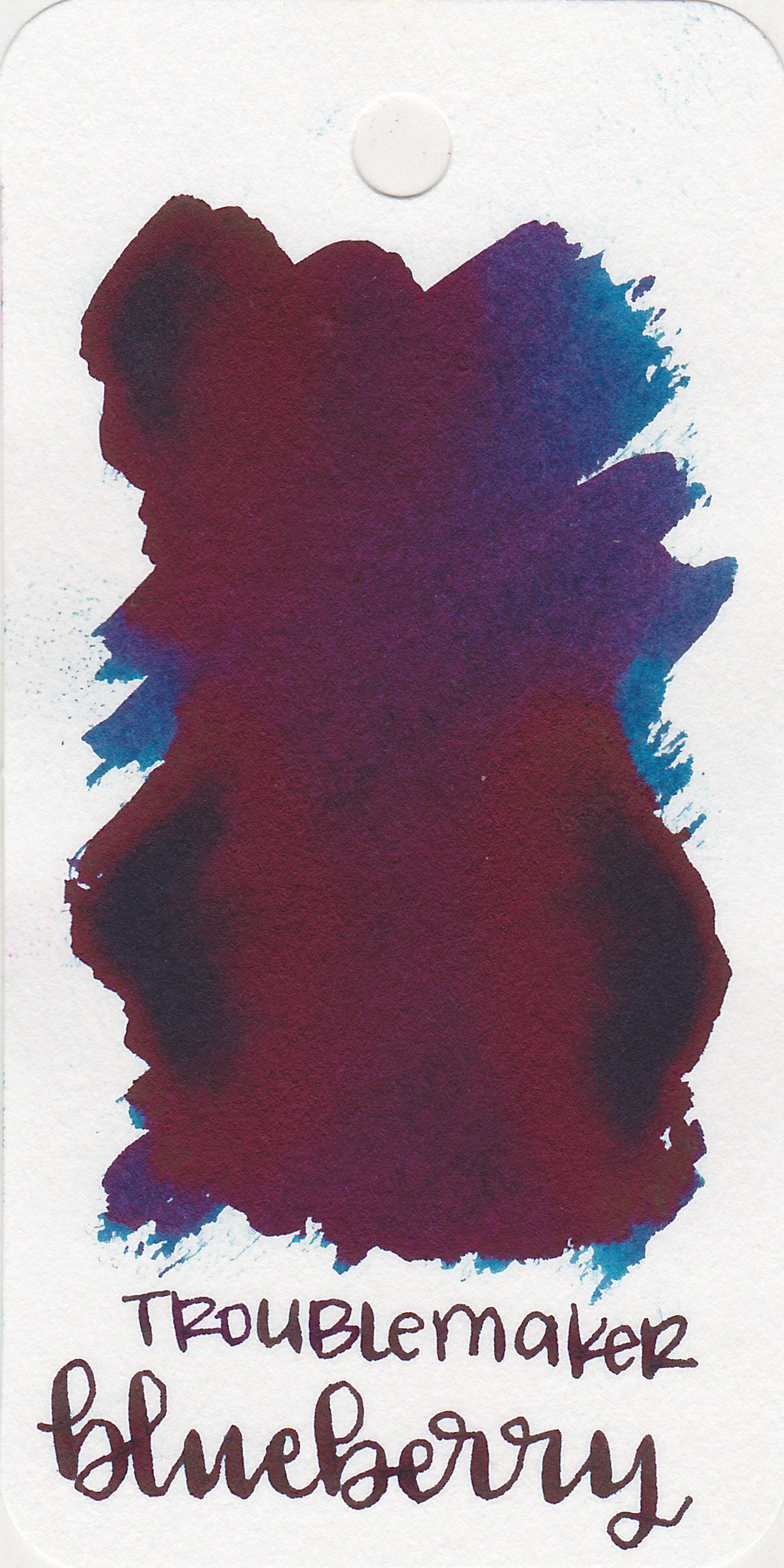 The color: - Blueberry is a medium blue with lots of red sheen.