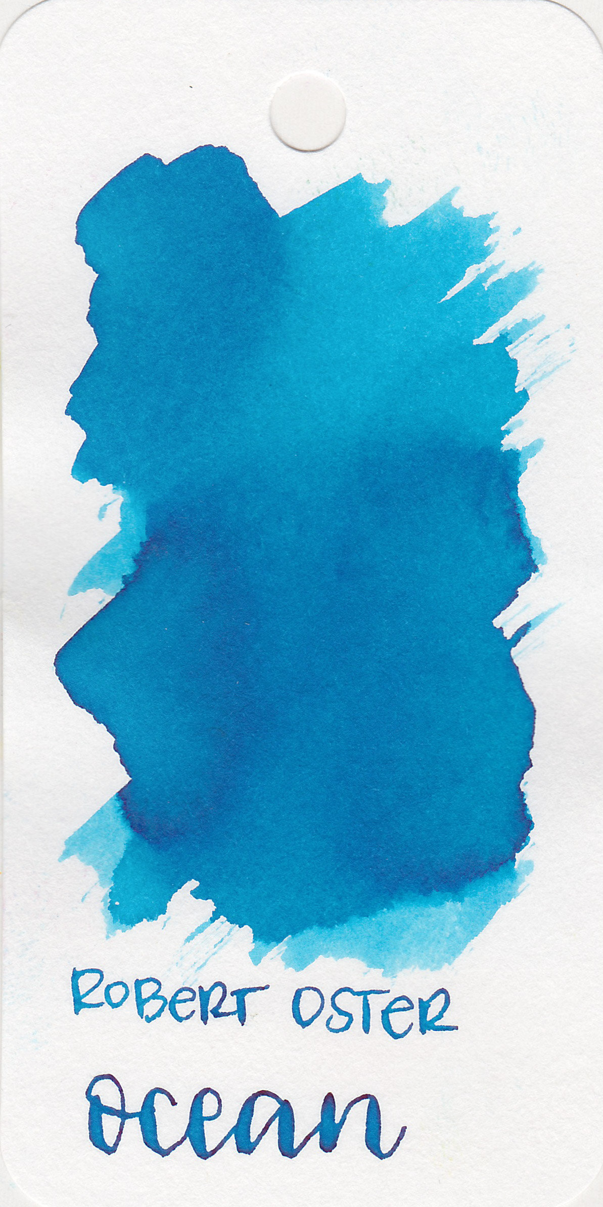 The color: - Ocean is a light turquoise blue.
