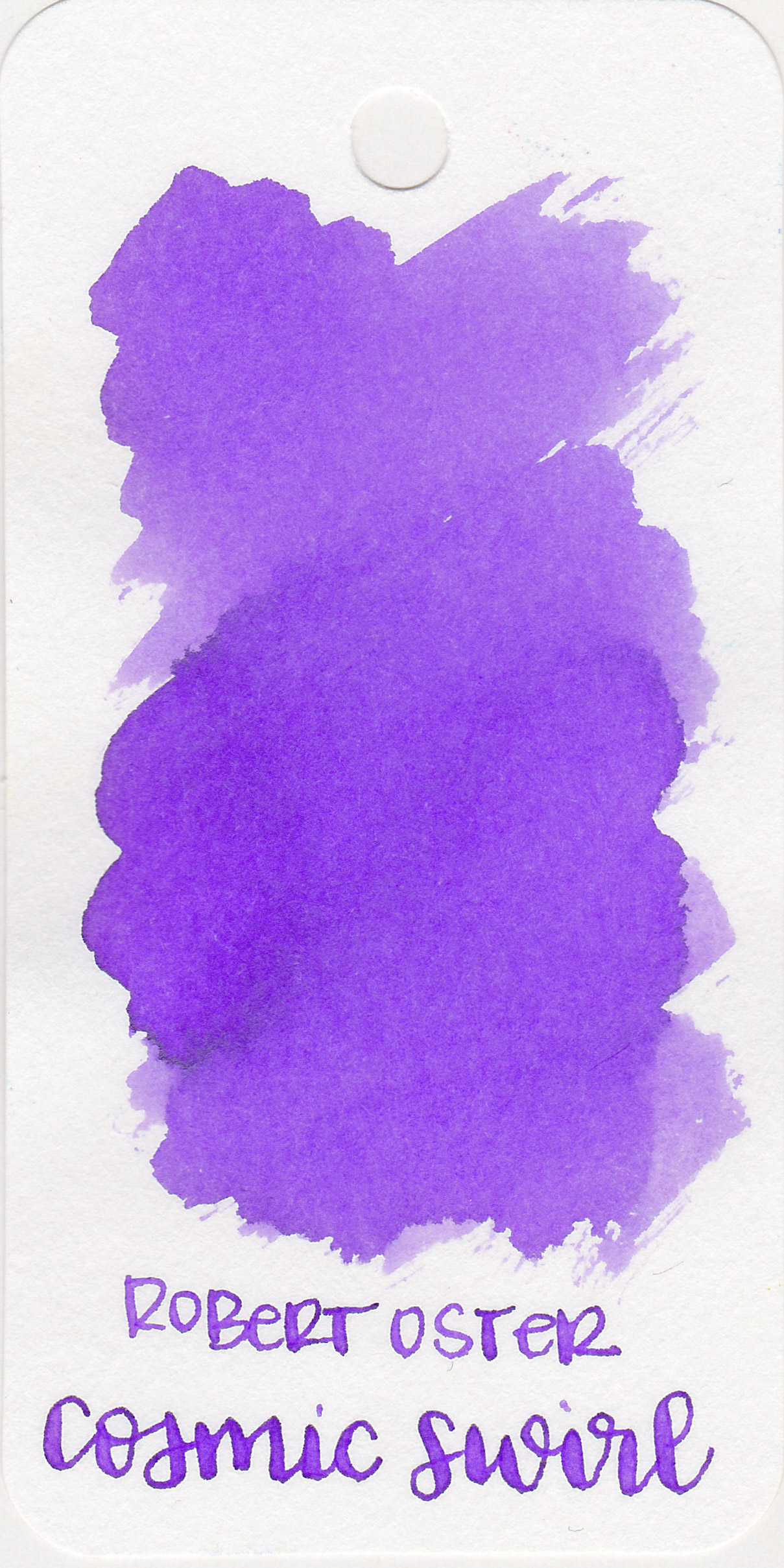 The color: - Cosmic Swirl is a light, gorgeous purple with a slight warm tone on the Col-o-ring paper.