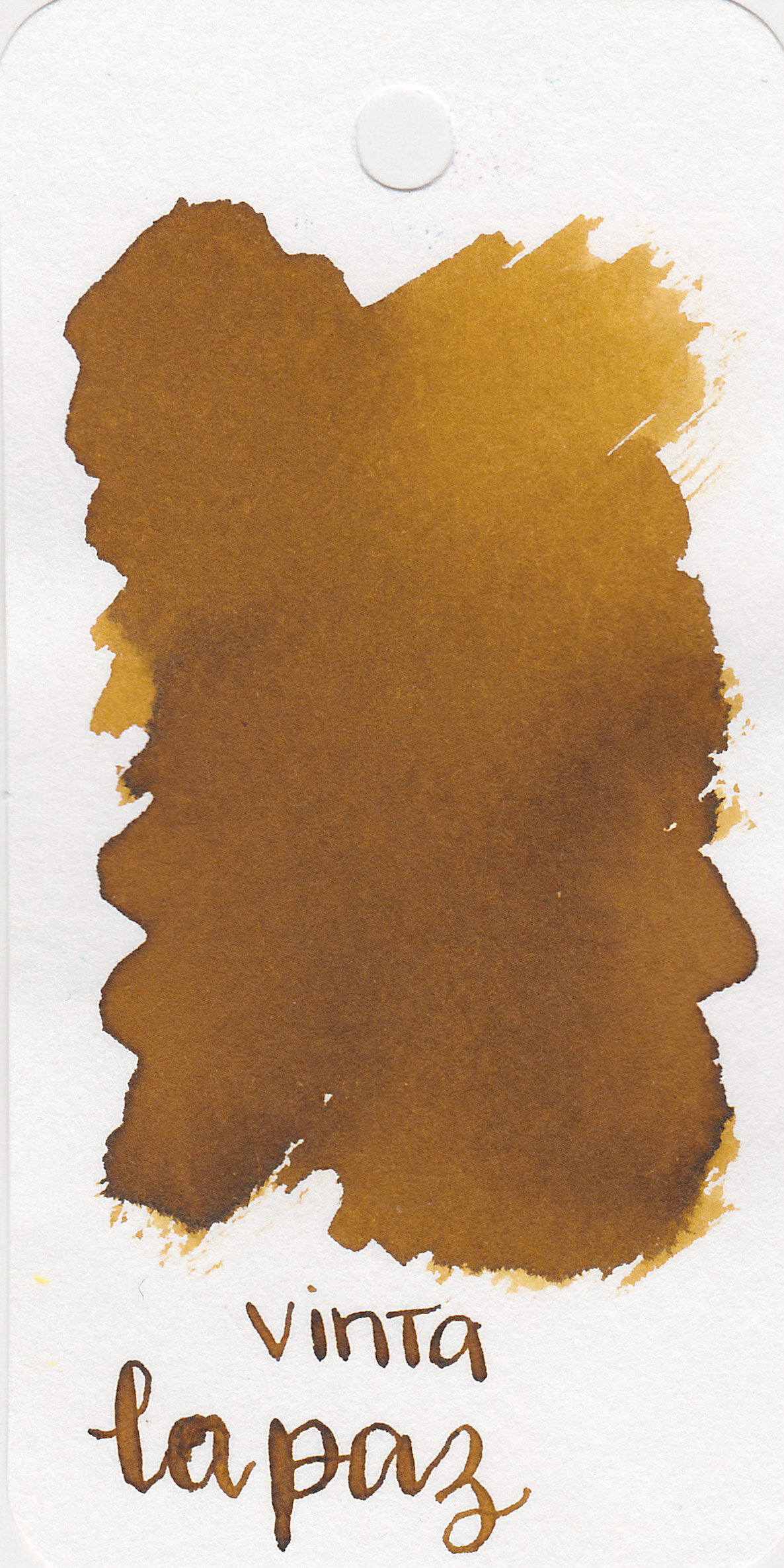 The color: - La Paz is a dark mustard yellow, almost a brown.
