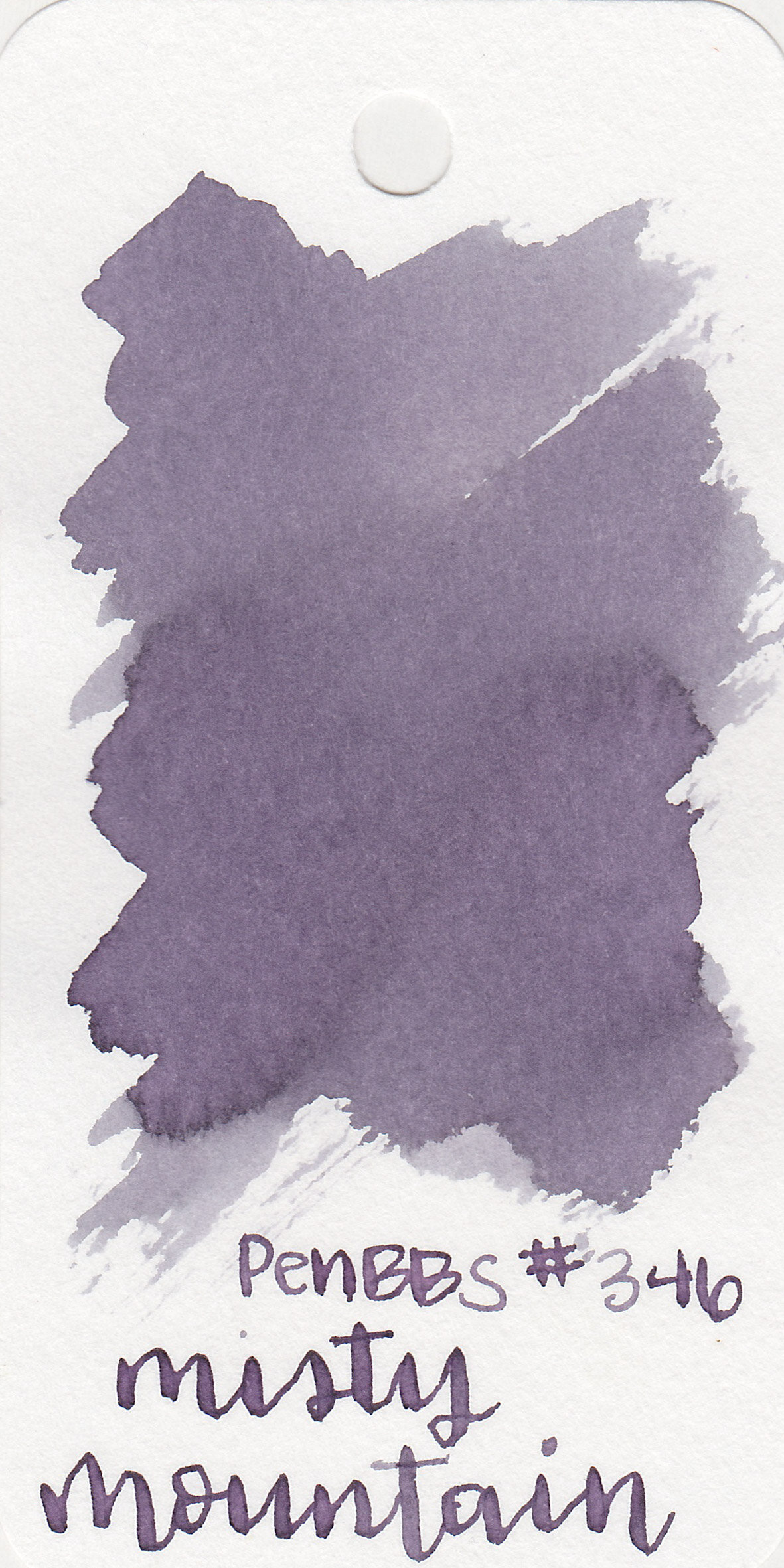 The color: - Misty Mountain is a medium grey with a strong purple undertone. It's almost more of a dusky purple on the Col-o-ring paper than a purplish grey.
