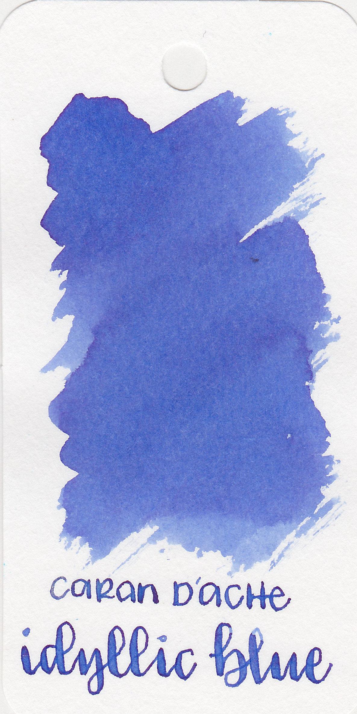The color: - Idyllic Blue is a gorgeous medium Cornflower Blue.